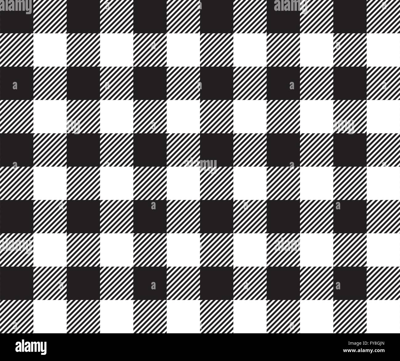 Black Tablecloth Background Seamless Pattern. Vector Illustration Of  Traditional Gingham Dining Cloth With Fabric Texture. Check