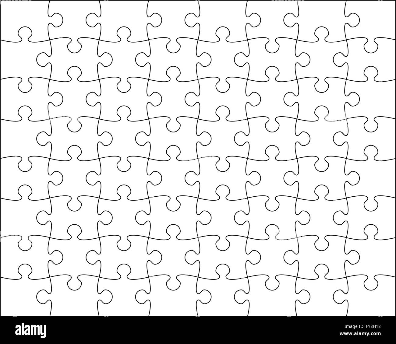 Jigsaw Puzzle Template Editable Blend Vector Illustration