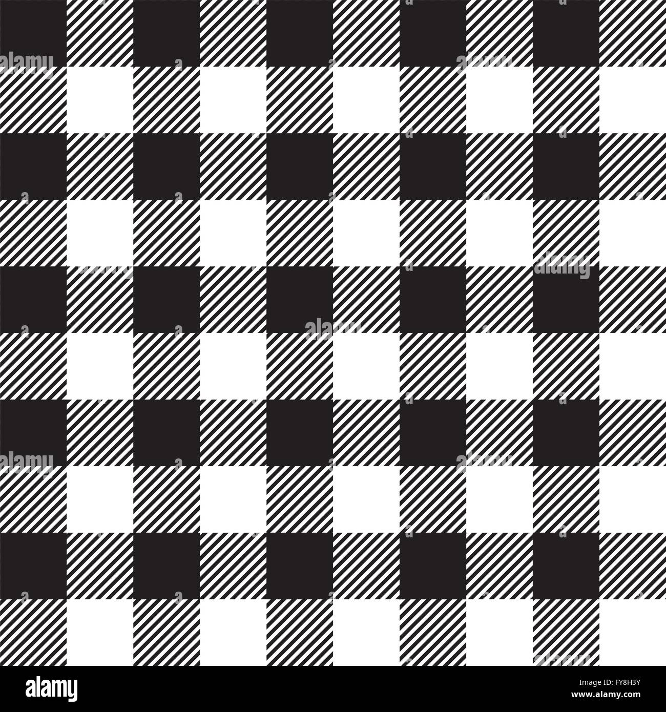 Black Tablecloth Seamless Pattern. Vector Illustration Of Traditional  Gingham Dining Cloth With Fabric Texture. Checkered Picnic