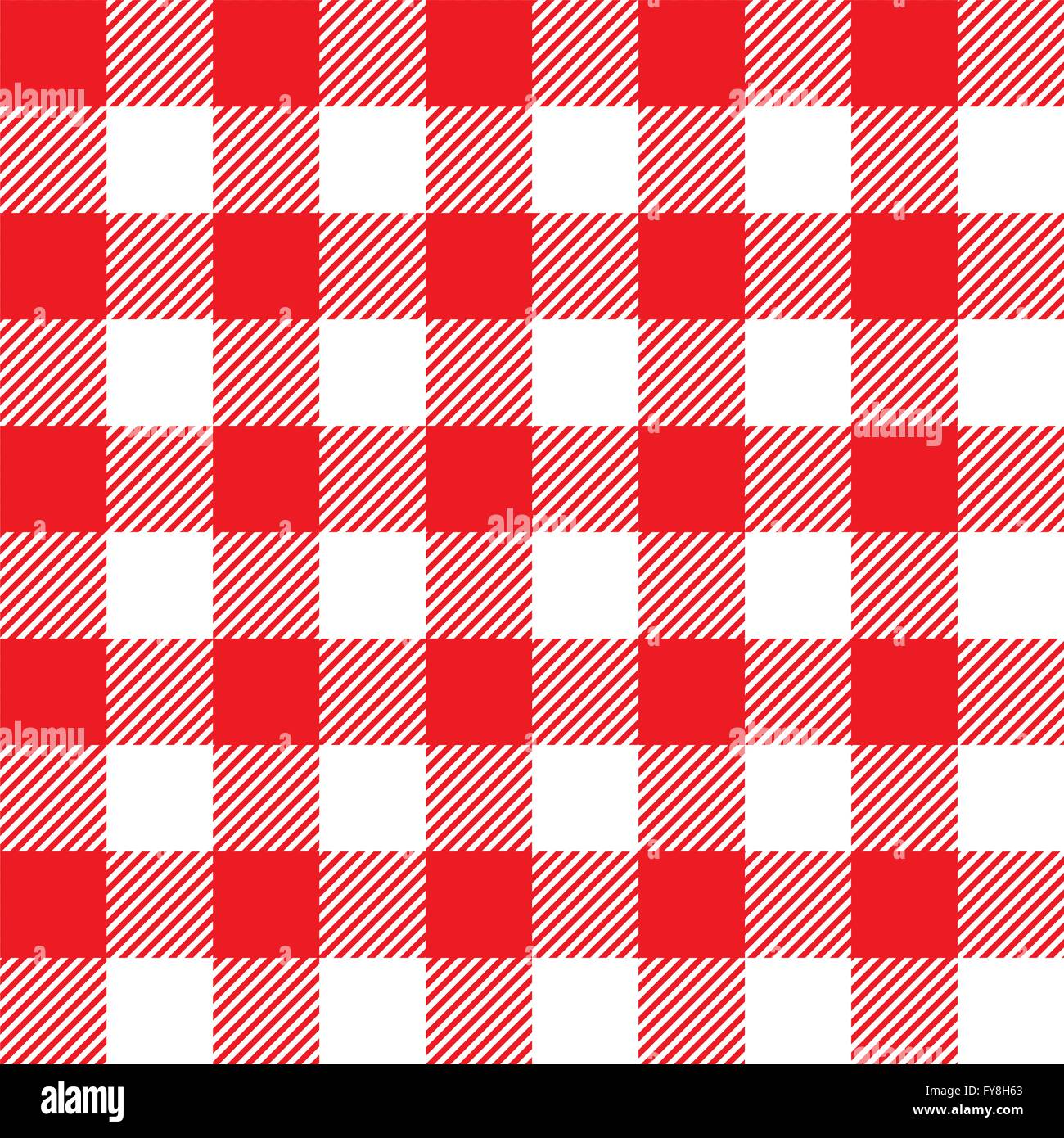 Red Tablecloth Seamless Pattern. Vector Illustration Of Traditional Gingham  Dining Cloth With Fabric Texture. Checkered Picnic C