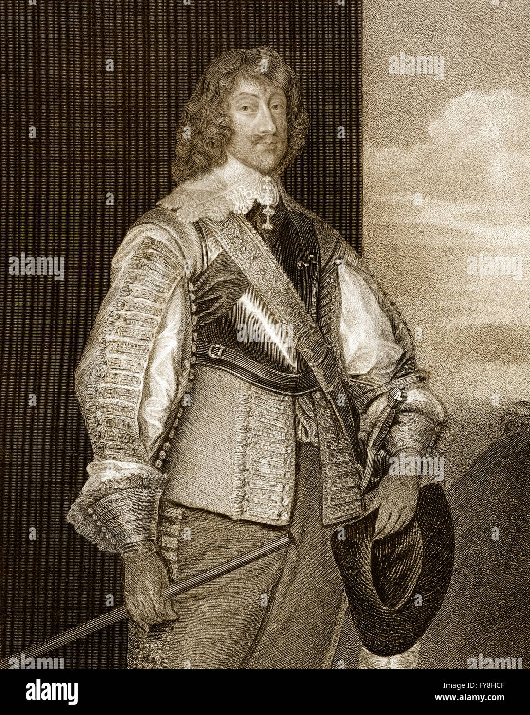 Henry Rich, 1st Earl of Holland, The Lord Kensington, 1590-1649, an English courtier, peer and soldier - Stock Image