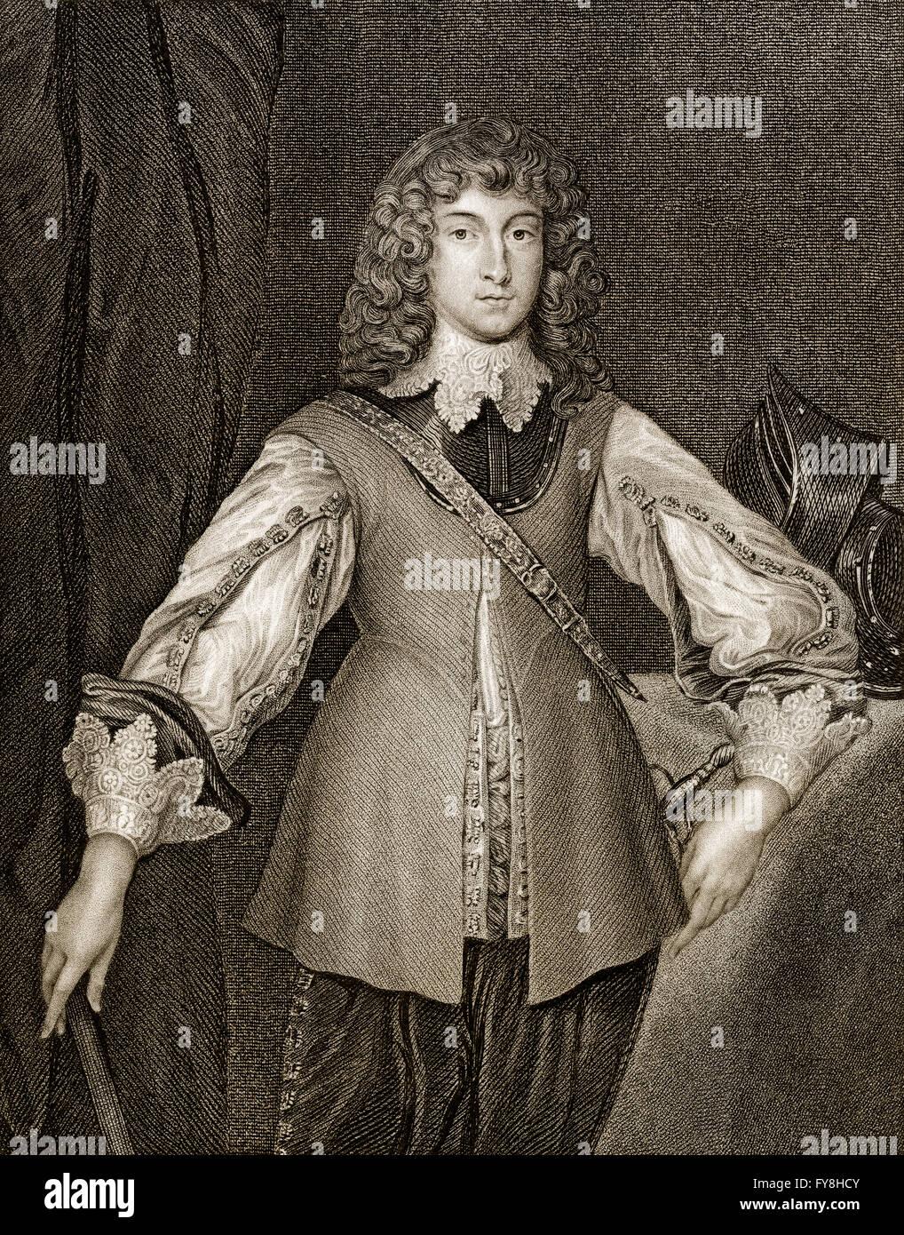 Rupert, Count Palatine of the Rhine, Duke of Bavaria, Duke of Cumberland, Earl of Holderness, Prince Rupert of the Stock Photo