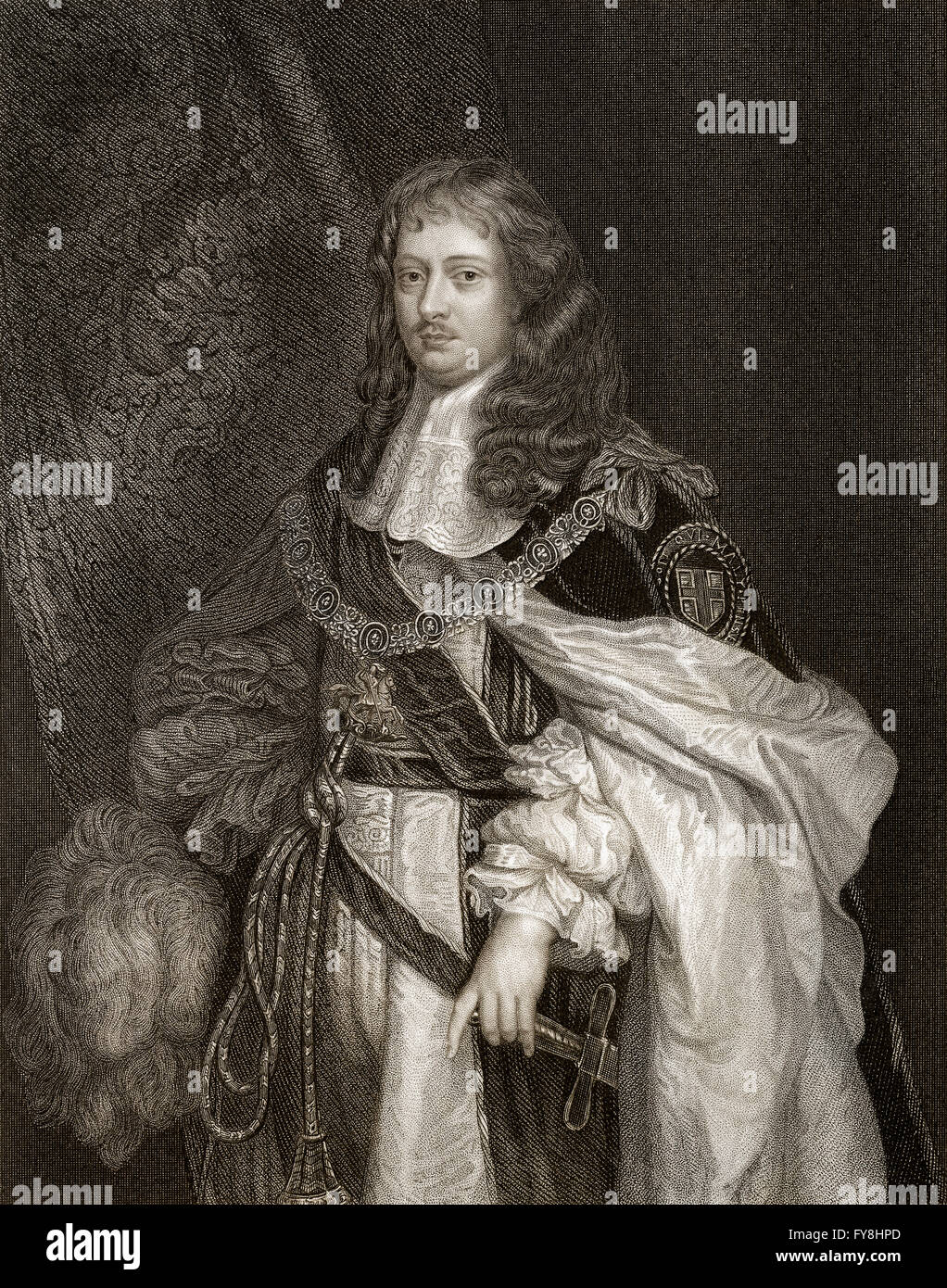 Edward Montagu, 1st Earl of Sandwich, 1625-1672, an English Infantry officer, naval officer and politician - Stock Image