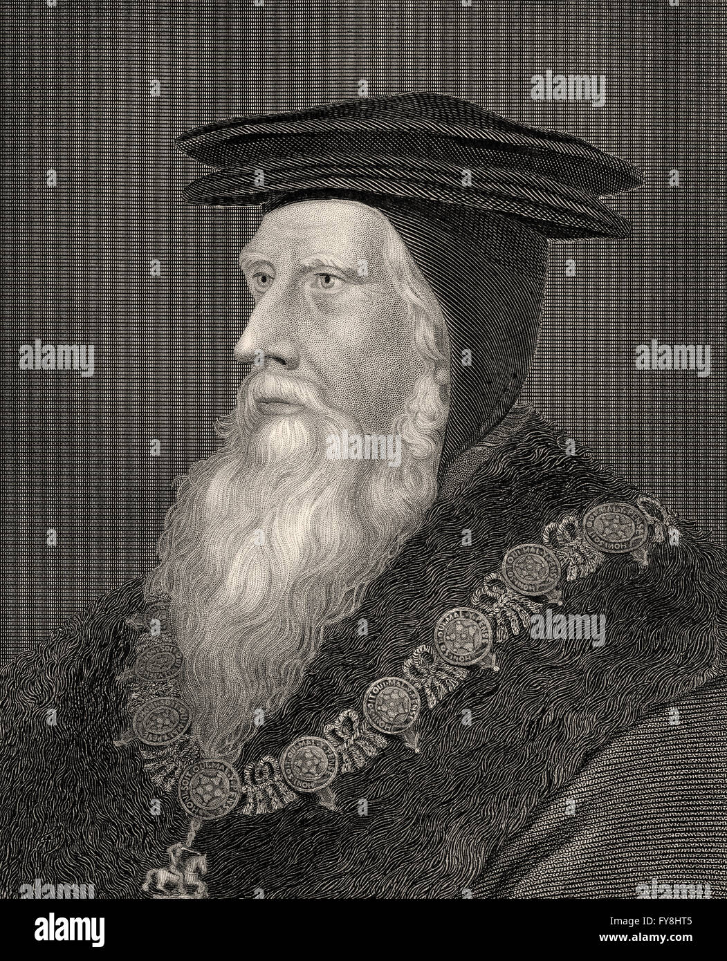 John Russell, 1st Earl of Bedfordc. 1485-1554/1555, an English royal minister in the Tudor era - Stock Image