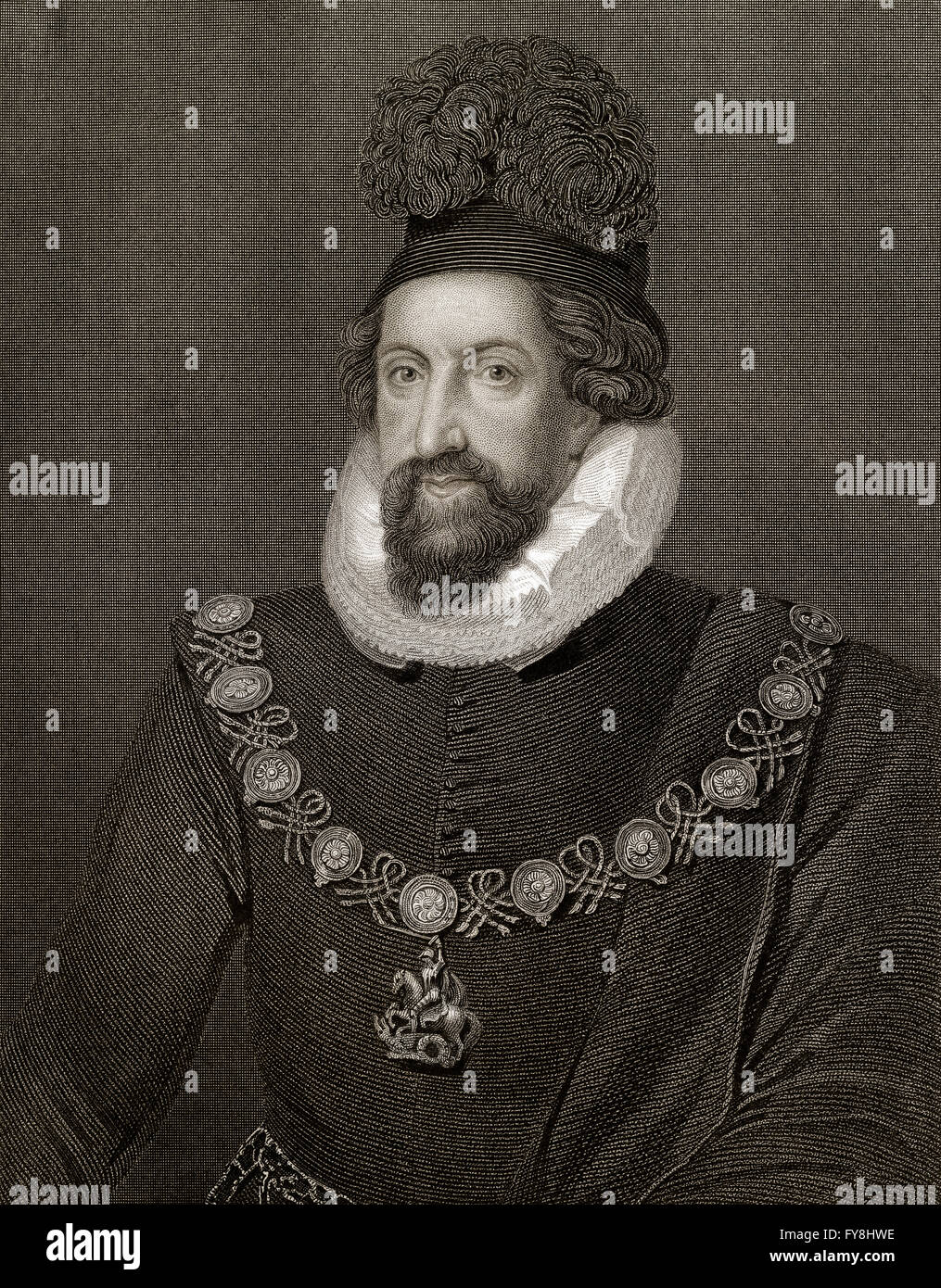 Admiral Thomas Howard, 1st Earl of Suffolk, 1561-1626, an English aristocrat Stock Photo