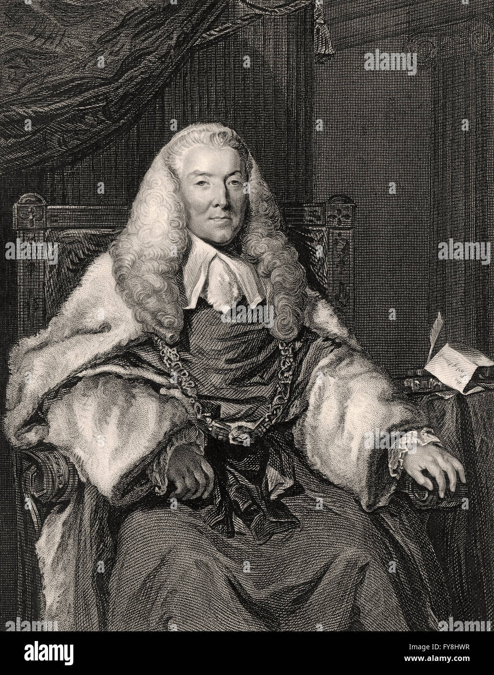 William Murray, 1st Earl of Mansfield, 1705-1793, a British barrister, politician and judge - Stock Image