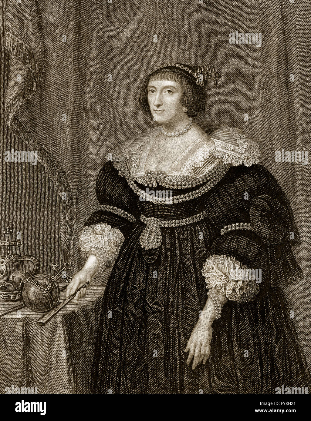 Elizabeth Stuart, the Winter Queen, 1596 - 1662, as the wife of Frederick  V, Elector Palatine, Electress Palatine, and Queen of