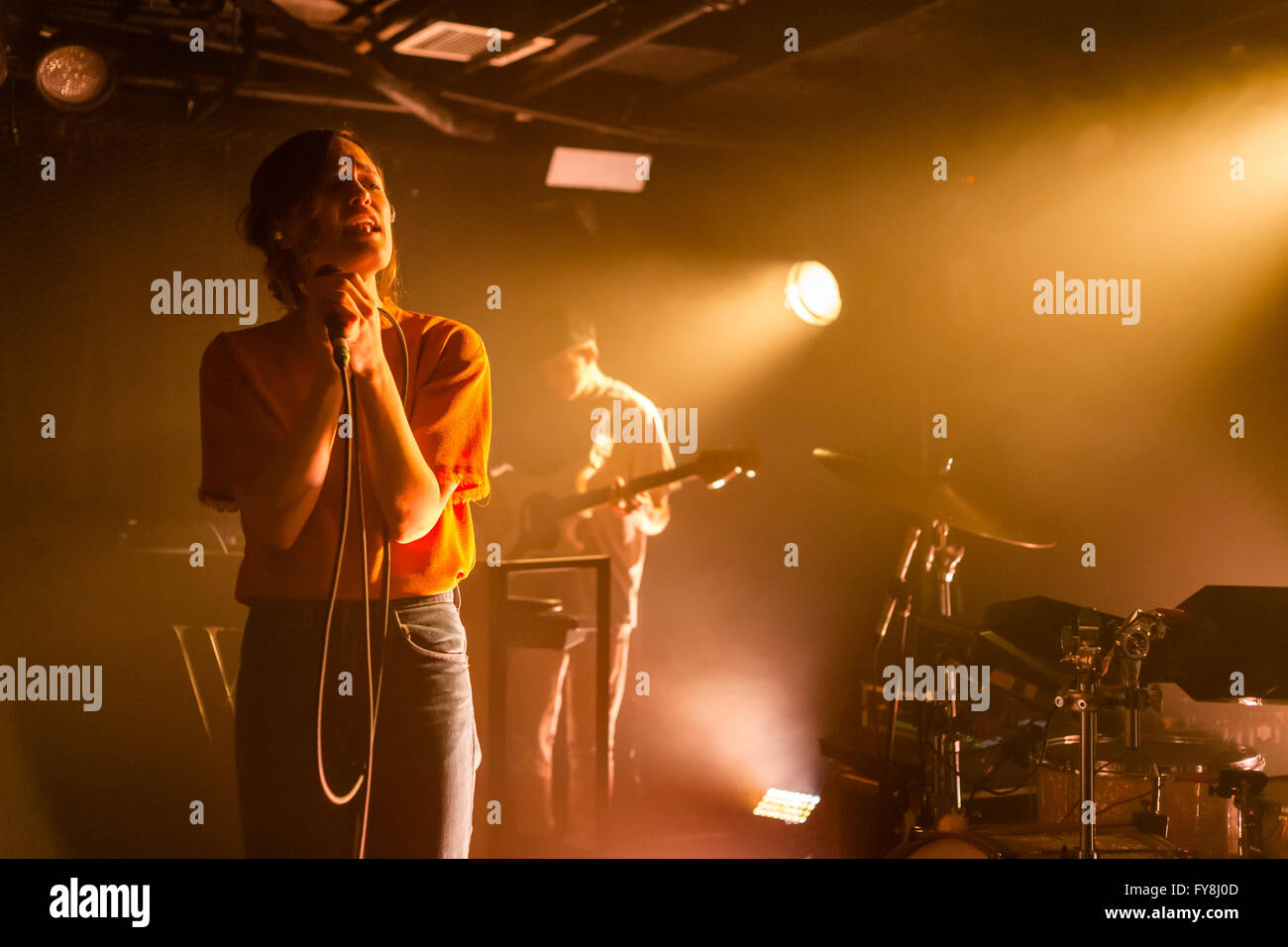 Kelly Zutrau of Wet @ The Biltmore Cabaret in Vancouver, BC on February 10th 2016 - Stock Image