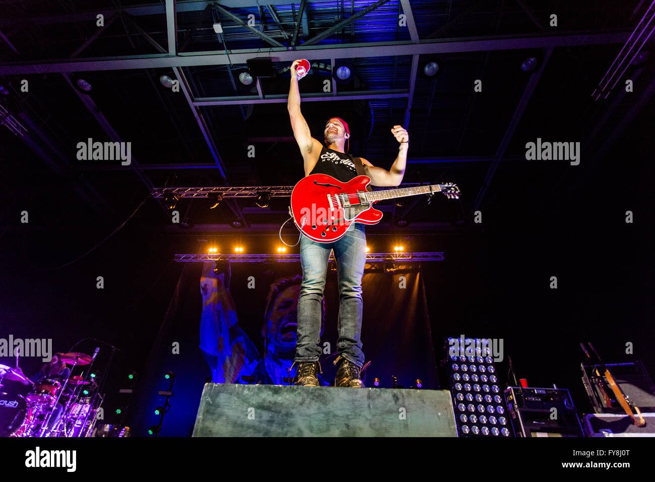 Kip Moore during his Wild Ones tour @ Abbotsford Centre in Abbotsford, BC on February 20th 2016 - Stock Image