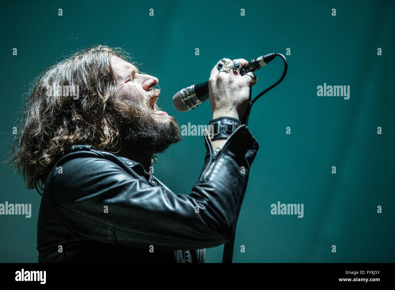 Jay Buchanan of Rival Sons @ Rogers Arena in Vancouver, BC on March 7th 2016 - Stock Image