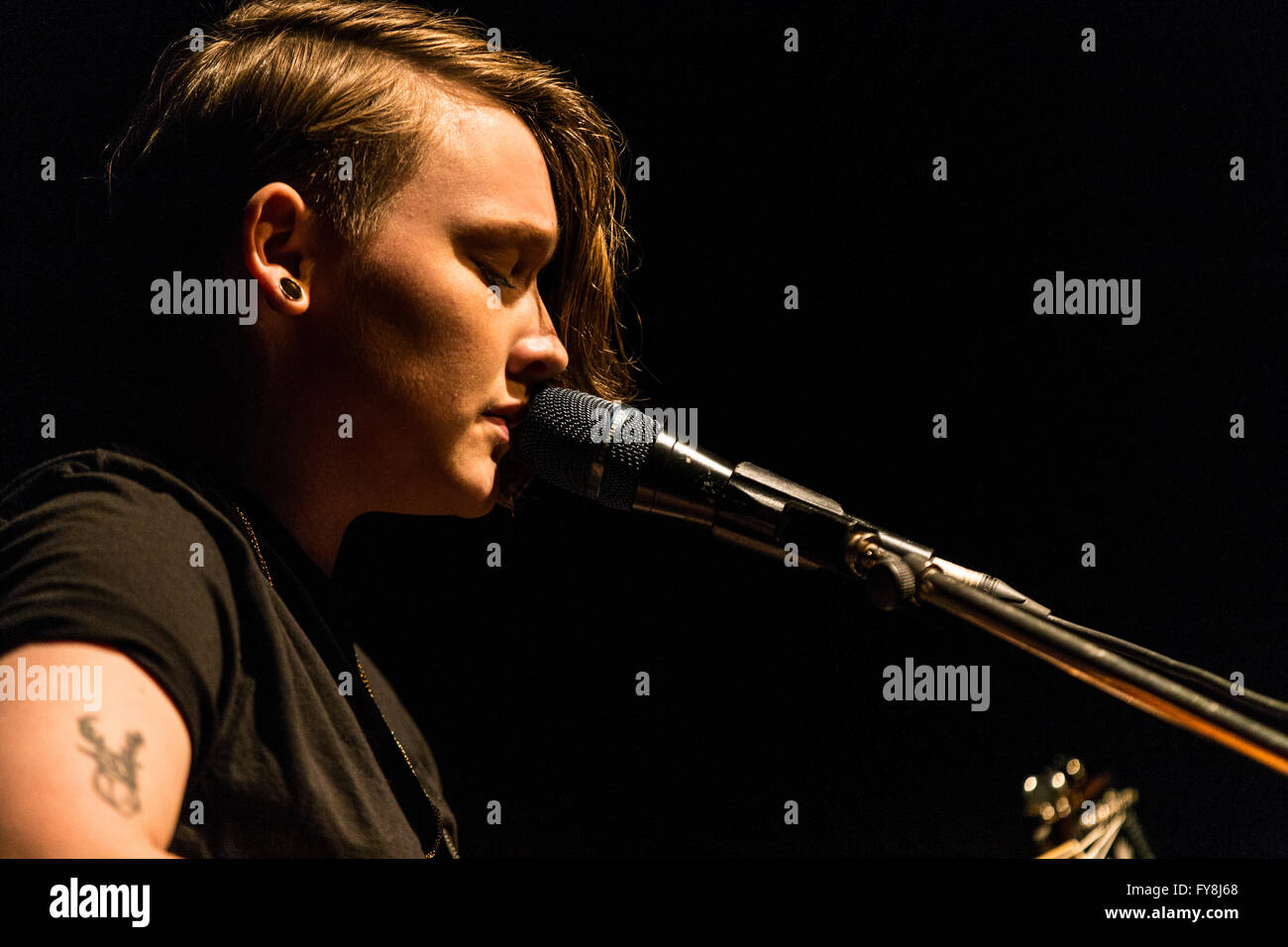 Bridie Monds-Watson aka Soak. @ The Fox Cabaret in Vancouver, BC on March 7th 2016 - Stock Image