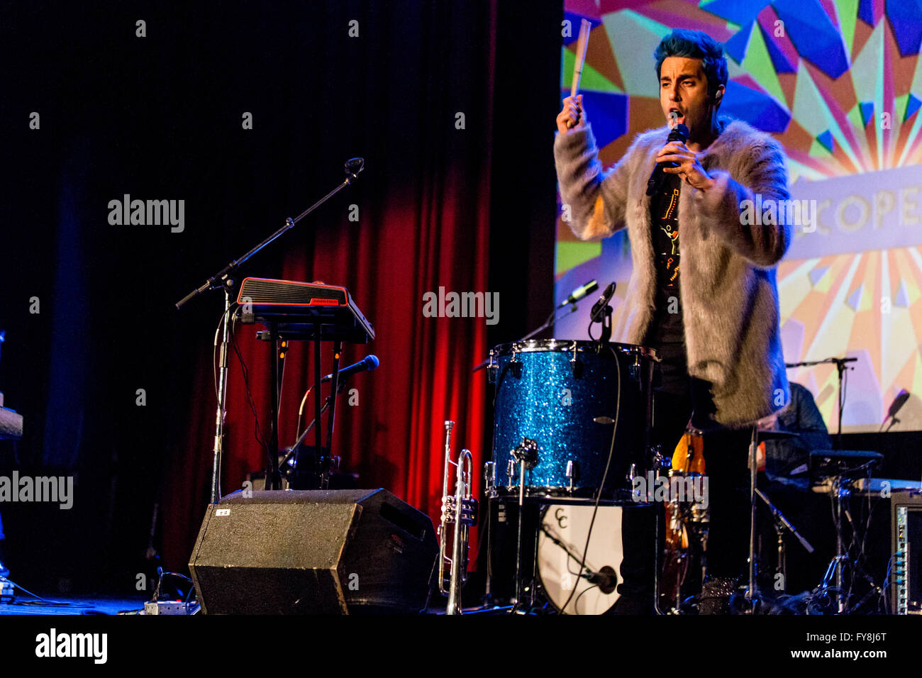 Chad King of A Great Big World @ The Rio Theatre in Vancouver, BC on March 24th 2016 - Stock Image