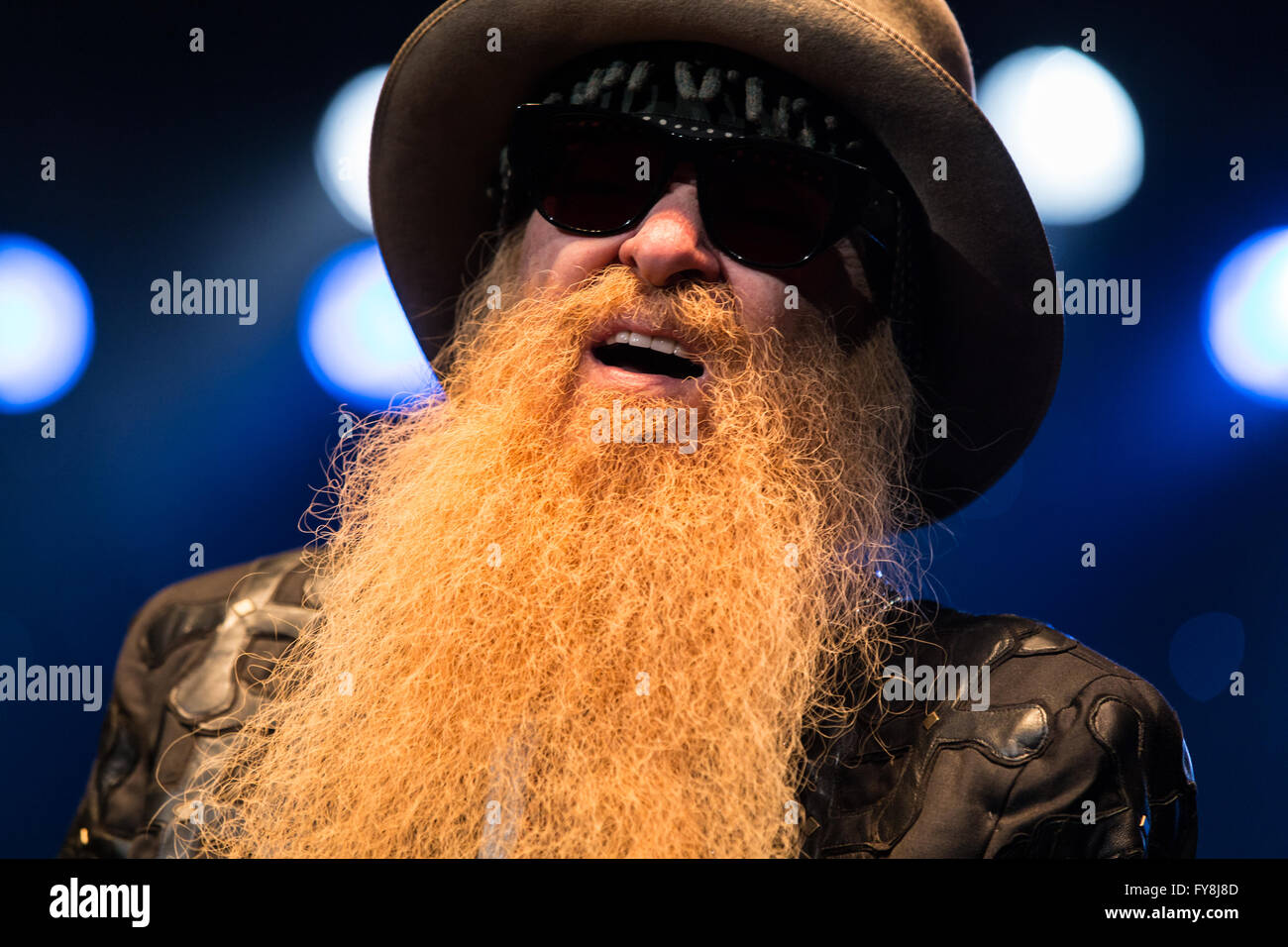 Billy Gibbons of ZZ Top @ Abbotsford Centre in Abbotsford, BC on April 7th 2016 - Stock Image