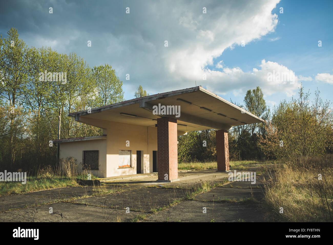 Old petrol station - Stock Image