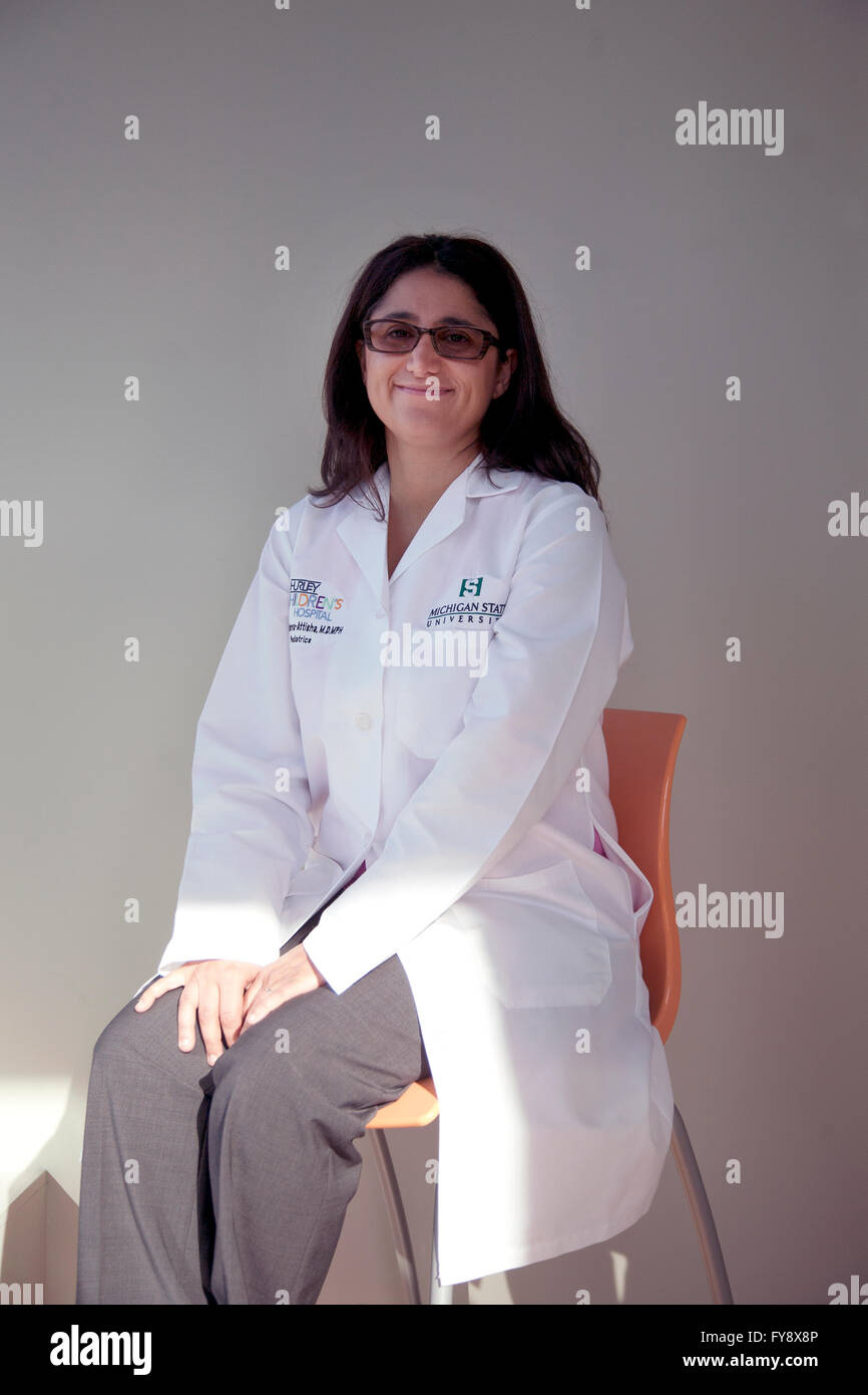 Dr. Mona Hanna-Attisha, director of Hurley Children's Hospital pediatric residency programs in Flint, Michigan. - Stock Image
