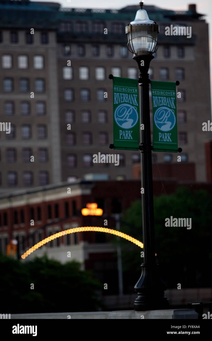 Downtown in Flint, Michigan. - Stock Image
