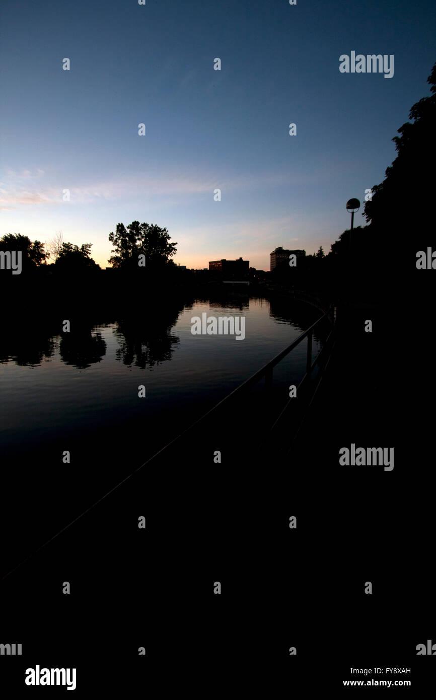 Flint River in Flint, Michigan - Stock Image