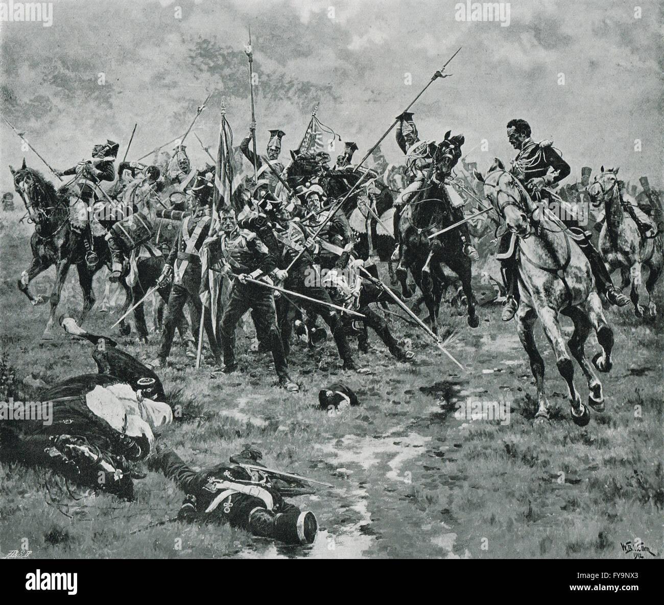 he Flag, Battle of Albuera, May 16 1811 - Stock Image