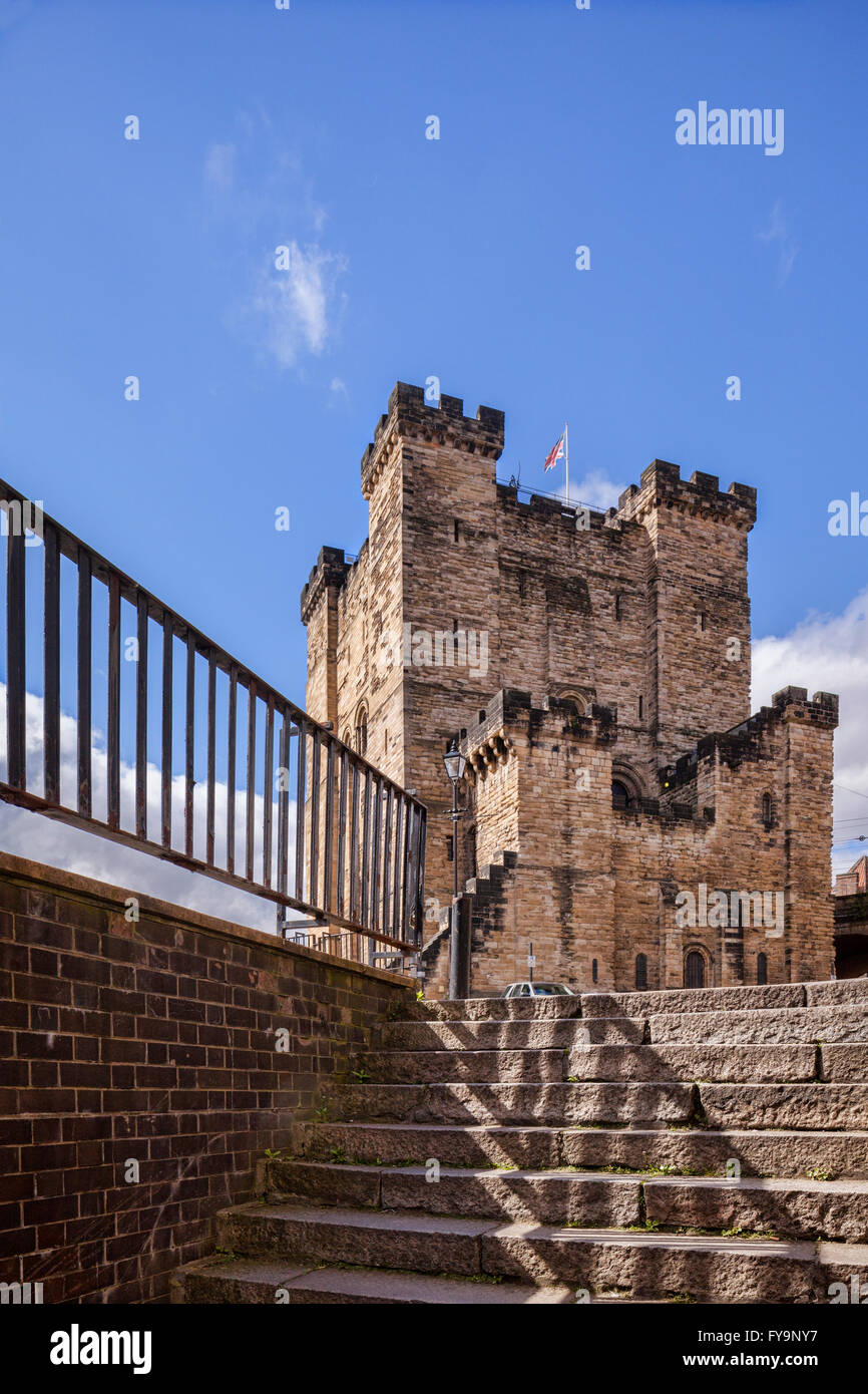 The Castle Keep, Newcastle upon Tyne, Tyne and Wear, England, UK. - Stock Image