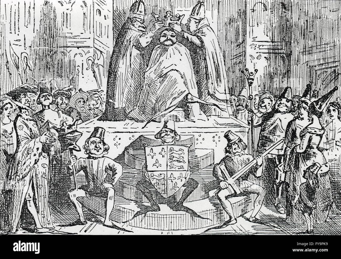 Coronation of Henry IV by John Leech - Stock Image