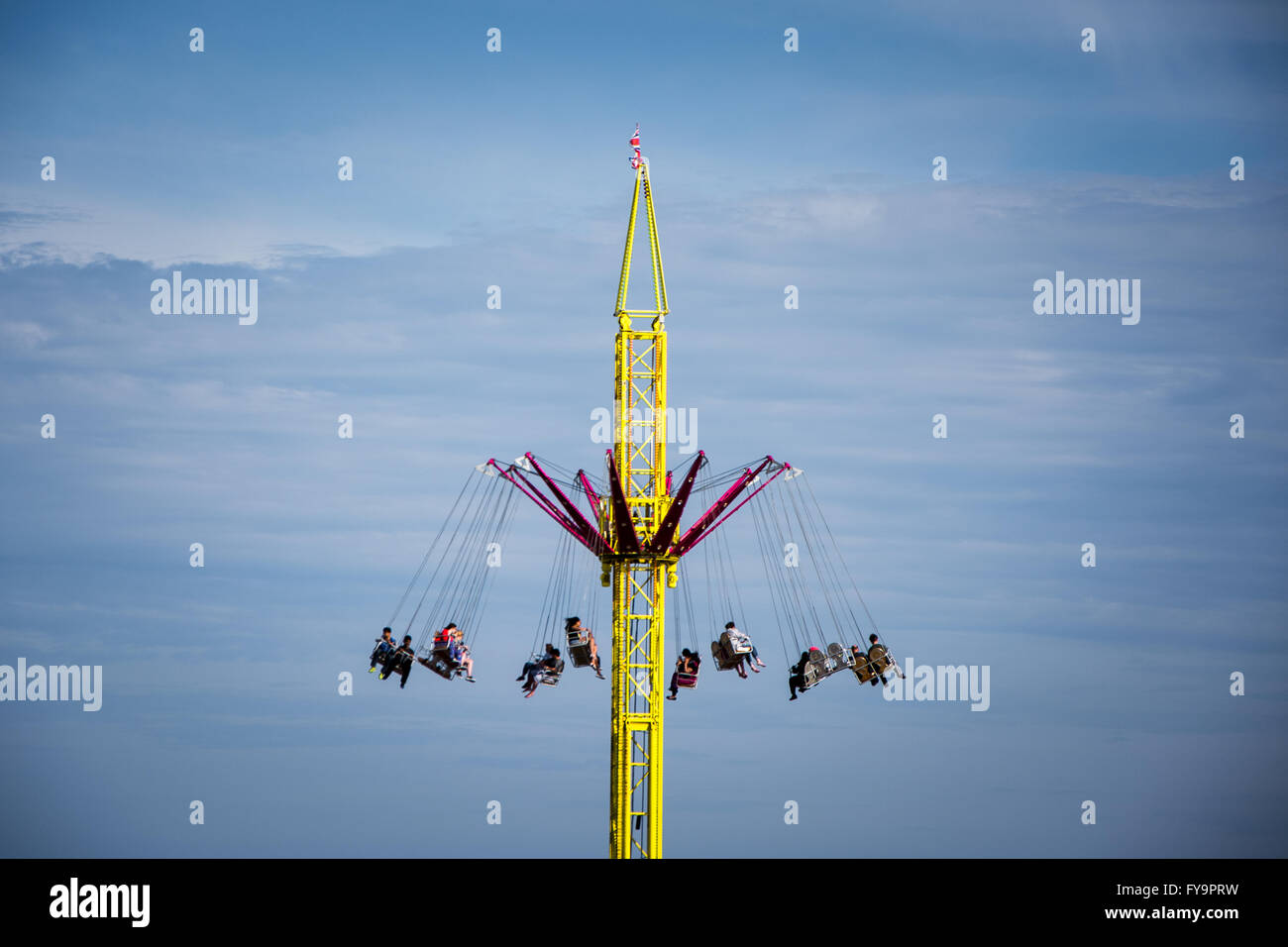 Amusement park ride in Clacton-on-Sea, Essex, England - Stock Image