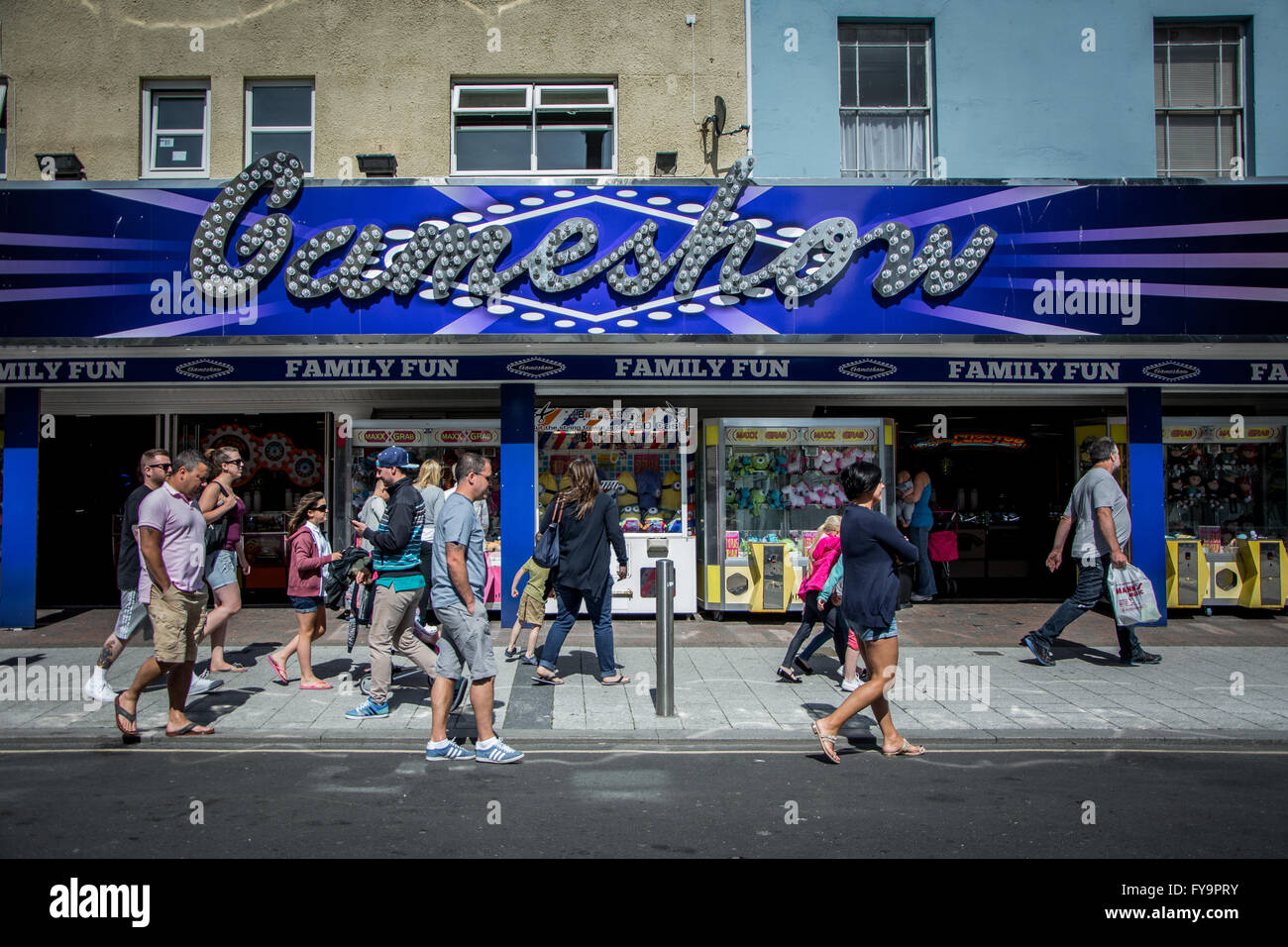 Family arcade in Clacton-on-Sea, Essex, England - Stock Image