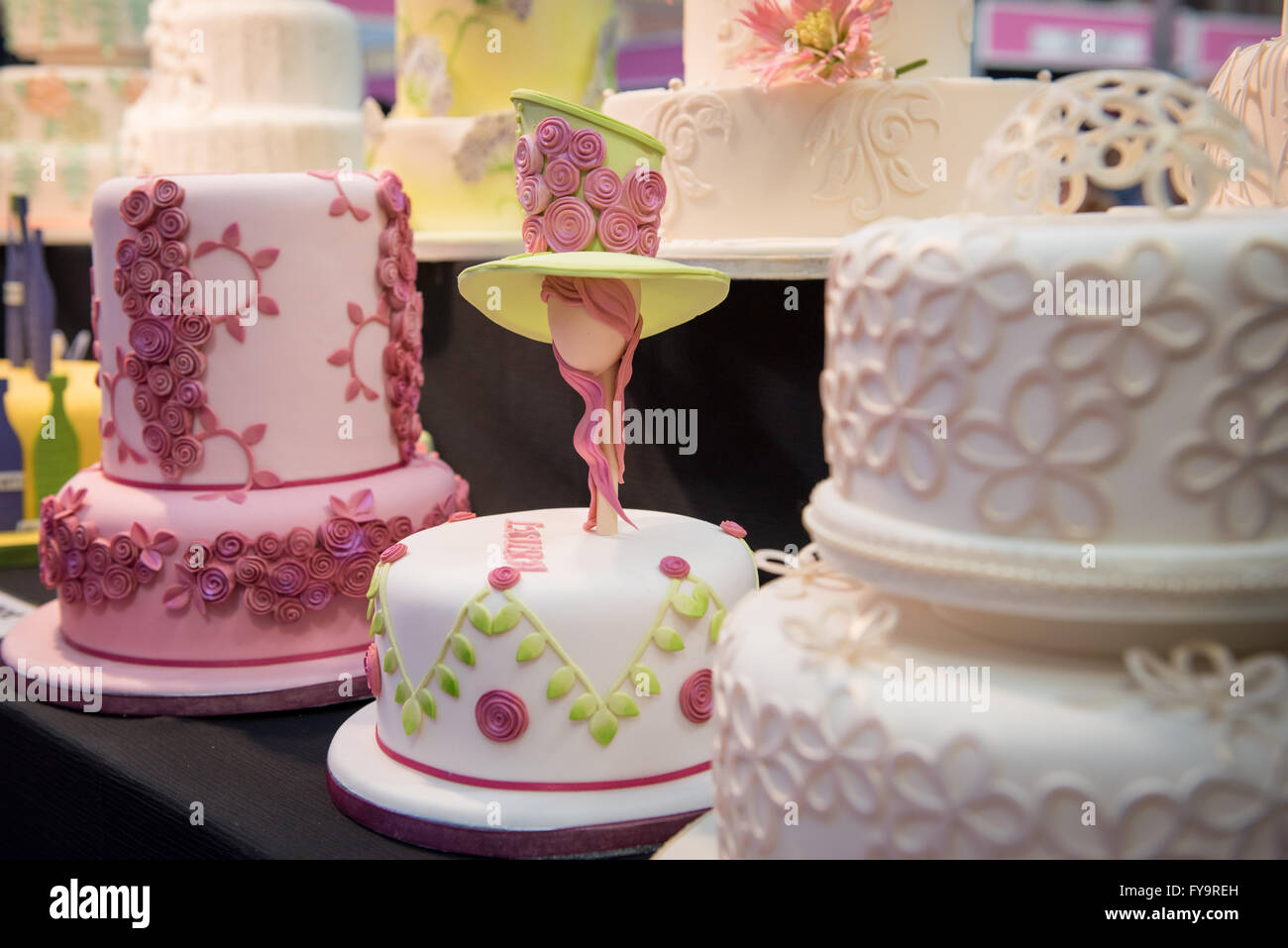 Decorative Floral Birthday And Wedding Cakes At Cake International The Sugarcraft Decorating Baking Show In London
