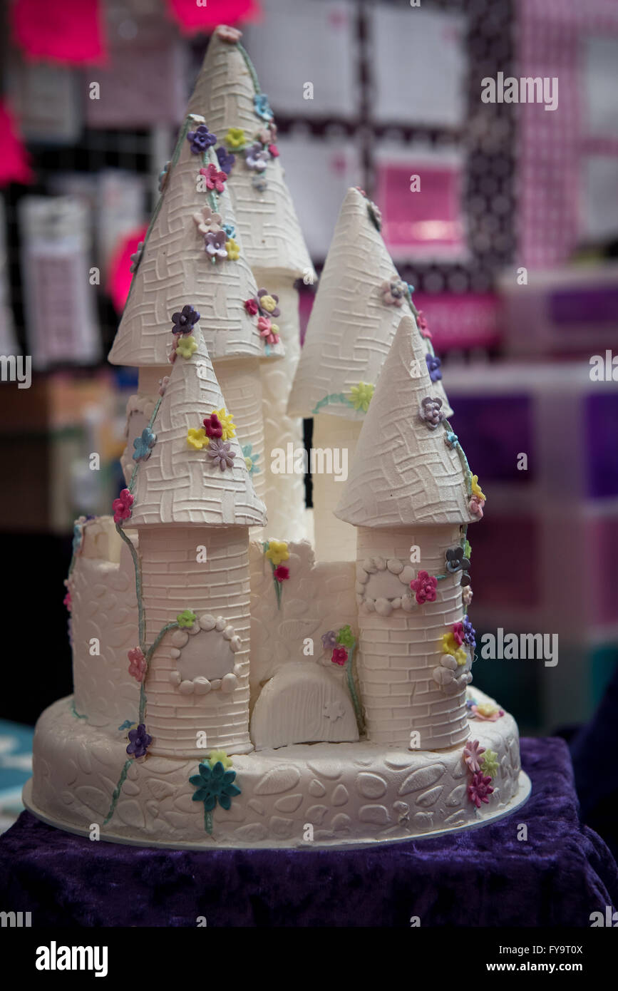 Decorative White Princess Castle Birthday Cake At Cake International