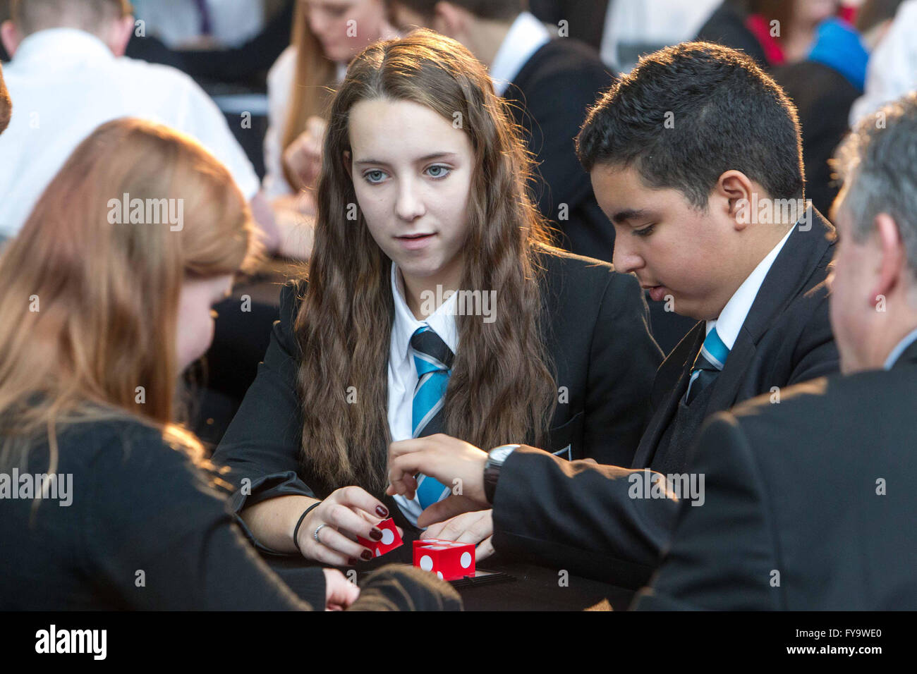School children studying - Stock Image