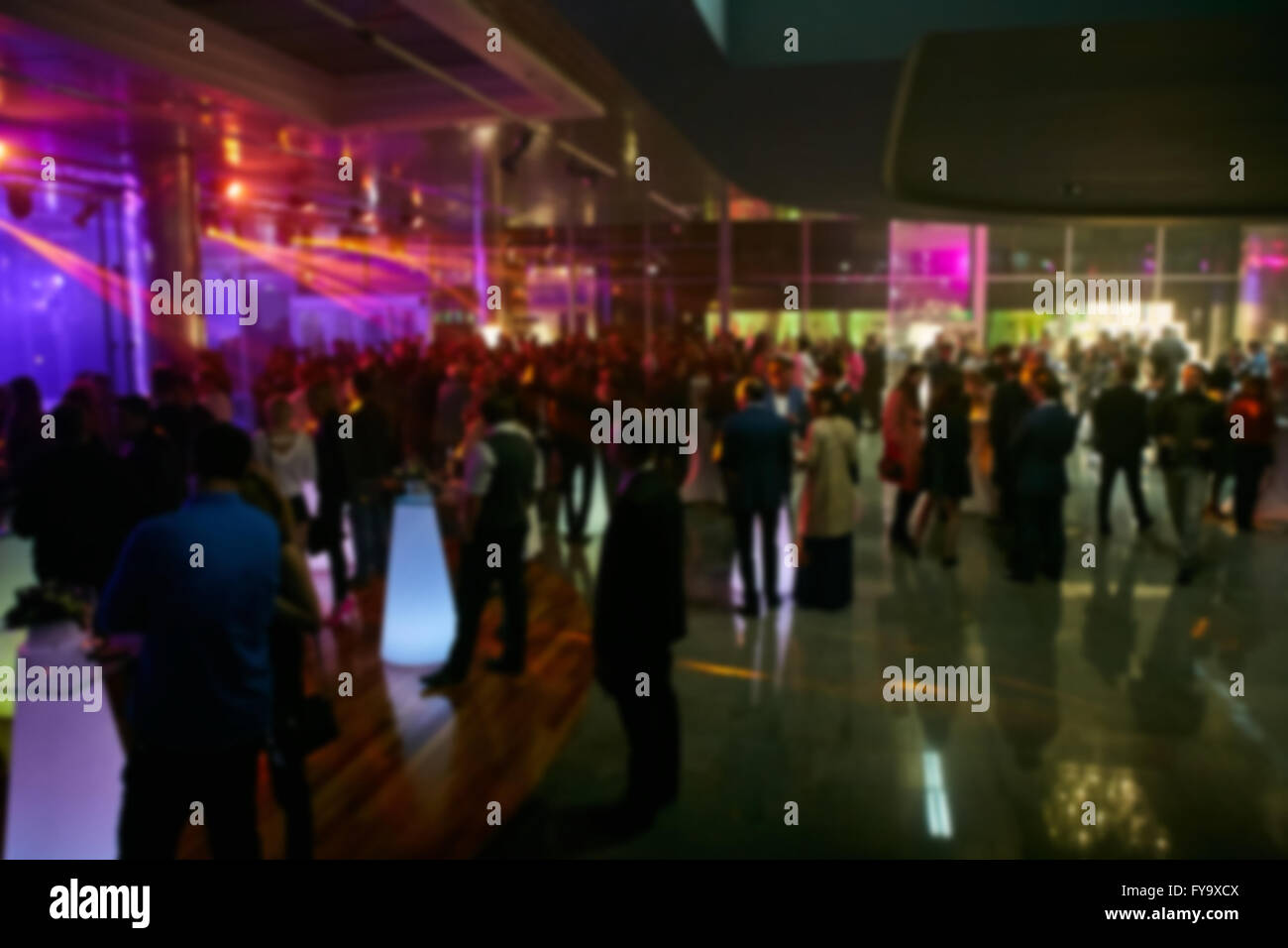 Abstract blurred people in party, sociability lifestyle concept - Stock Image