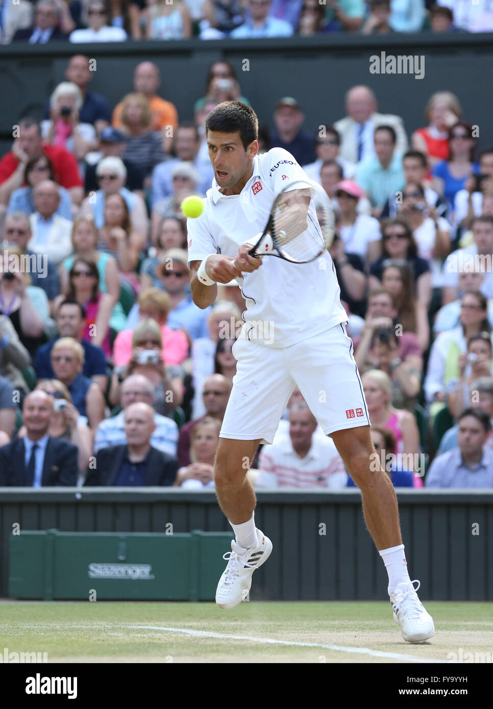 Novak Djokovic, SRB, Wimbledon Championships in 2014, ITF Grand Slam Tennis Tournament, AELTC, All England Lawn - Stock Image