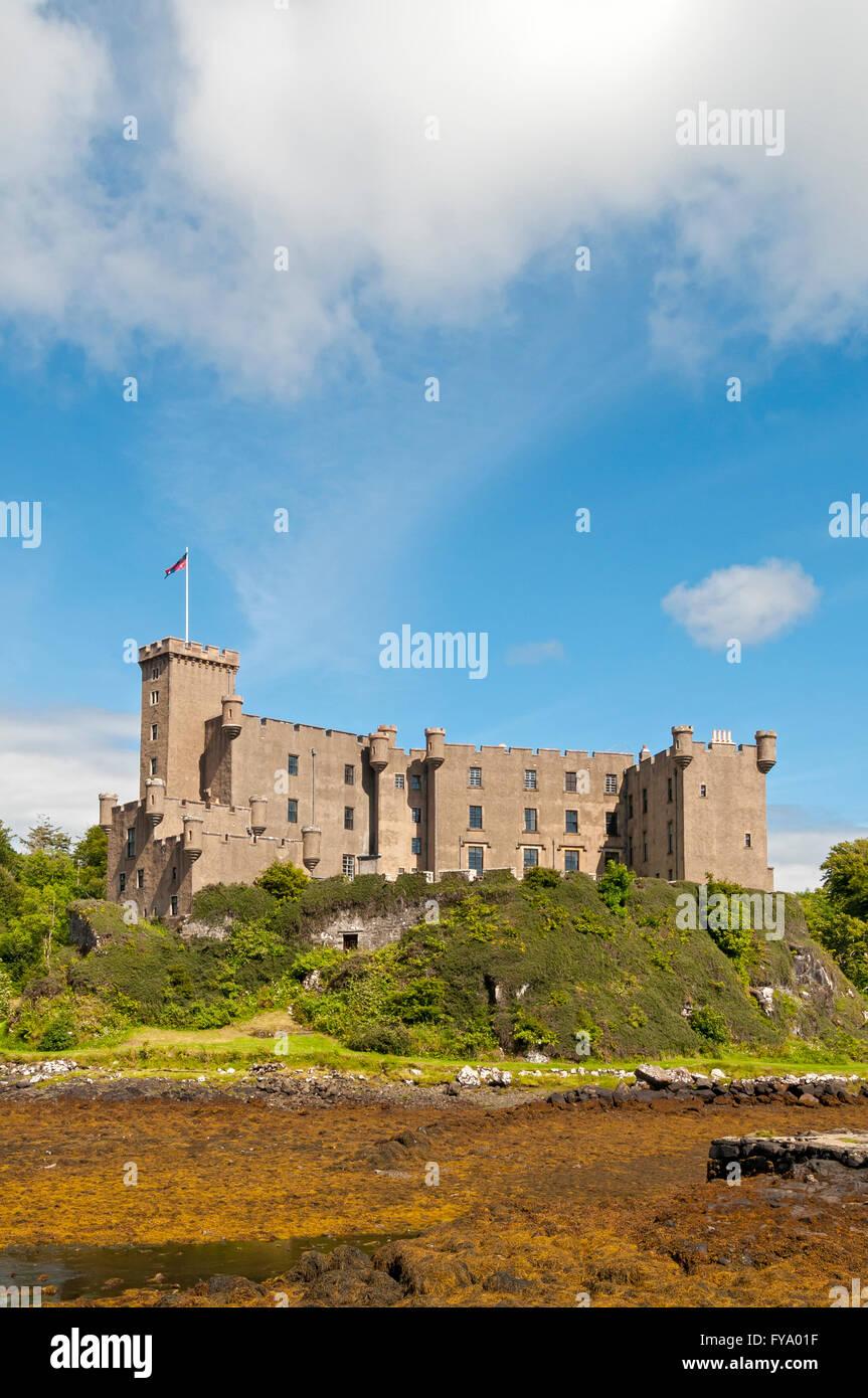 Dunvegan Castle, Isle of Skye, Scotland, United Kingdom - Stock Image