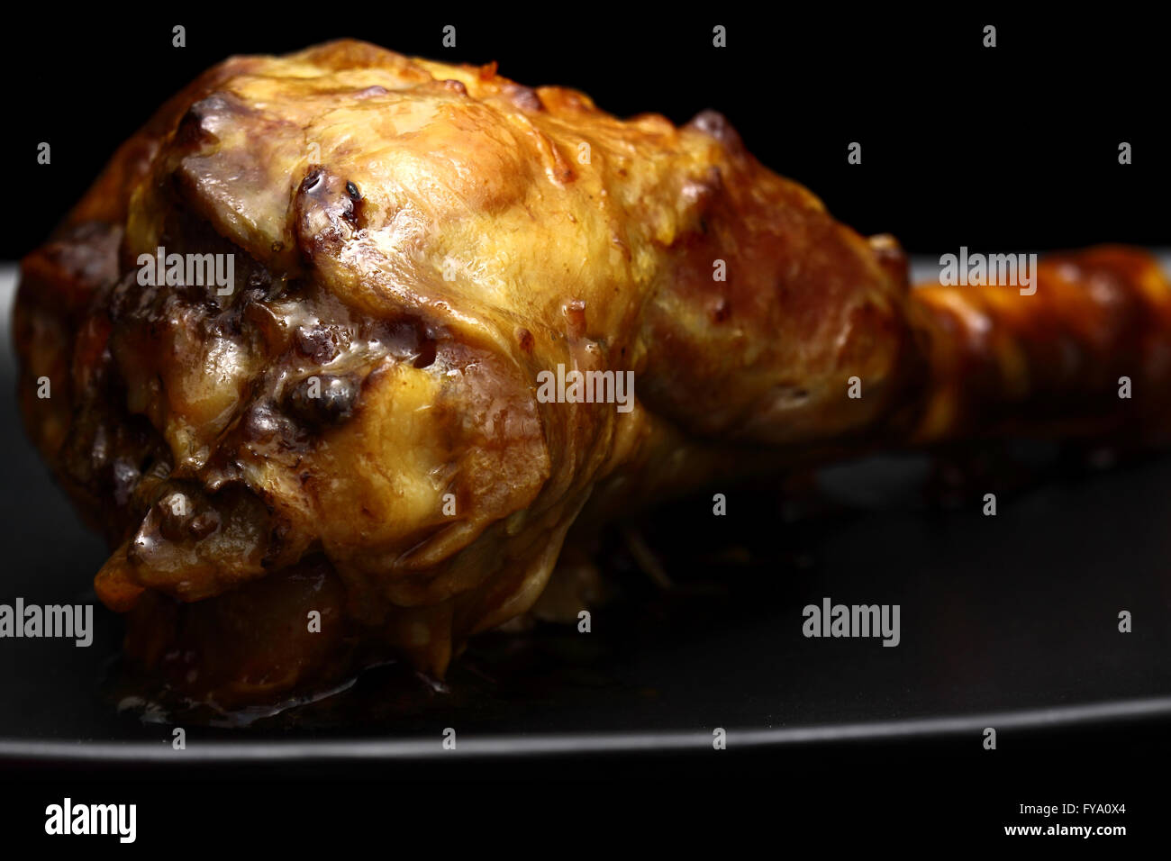 Lamb shank cooked - Stock Image