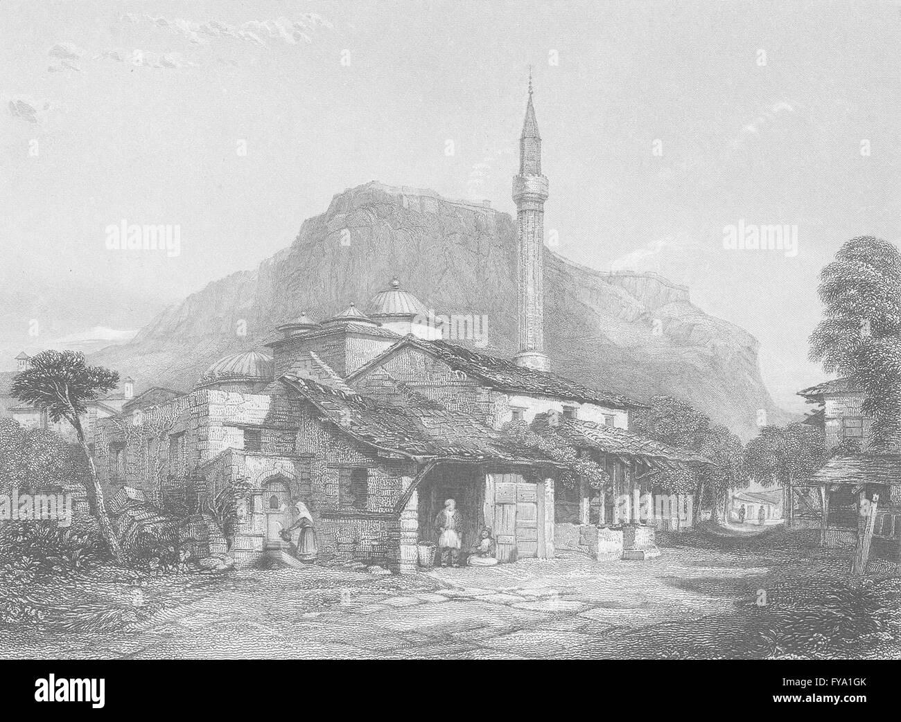 GREECE: Corinth ; Finden, antique print 1834 - Stock Image