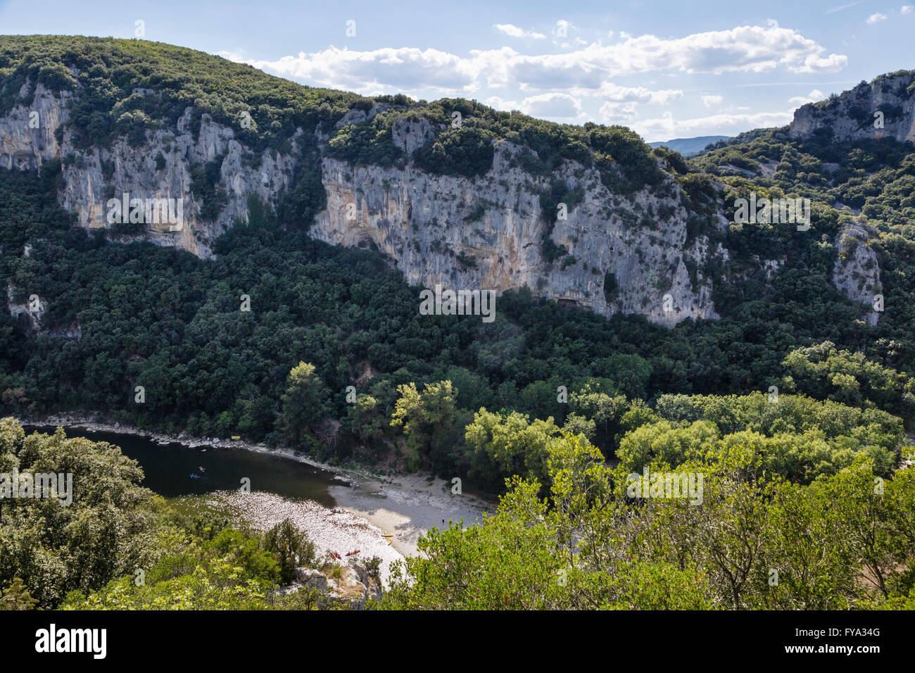 Ardèche Gorge, Ardèche, France - Stock Image