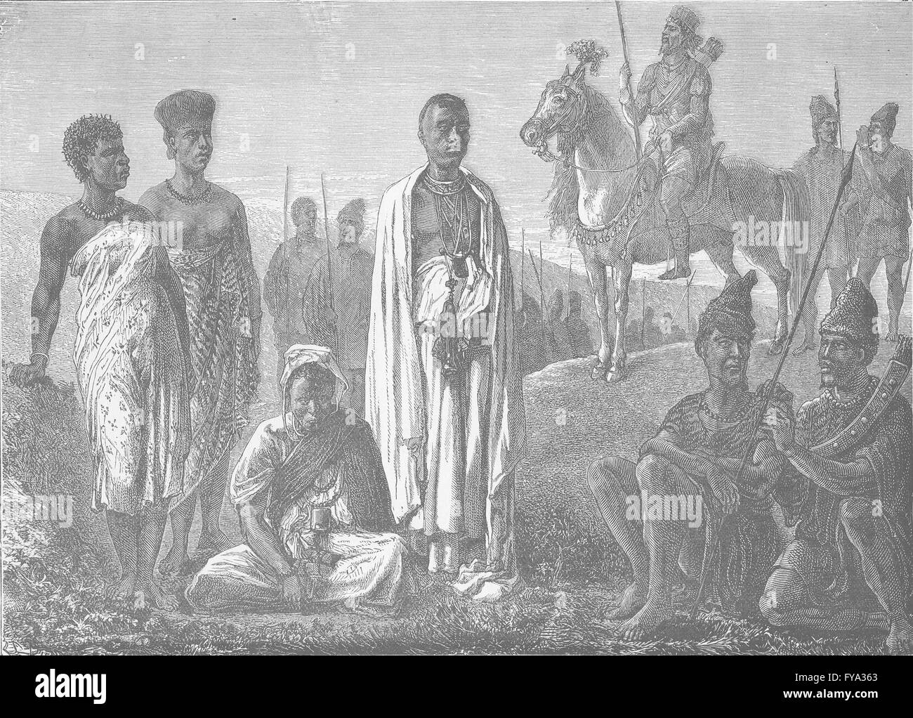 LIBERIA: Typical tribes of the North-West Coast of Africa, antique print 1890 - Stock Image