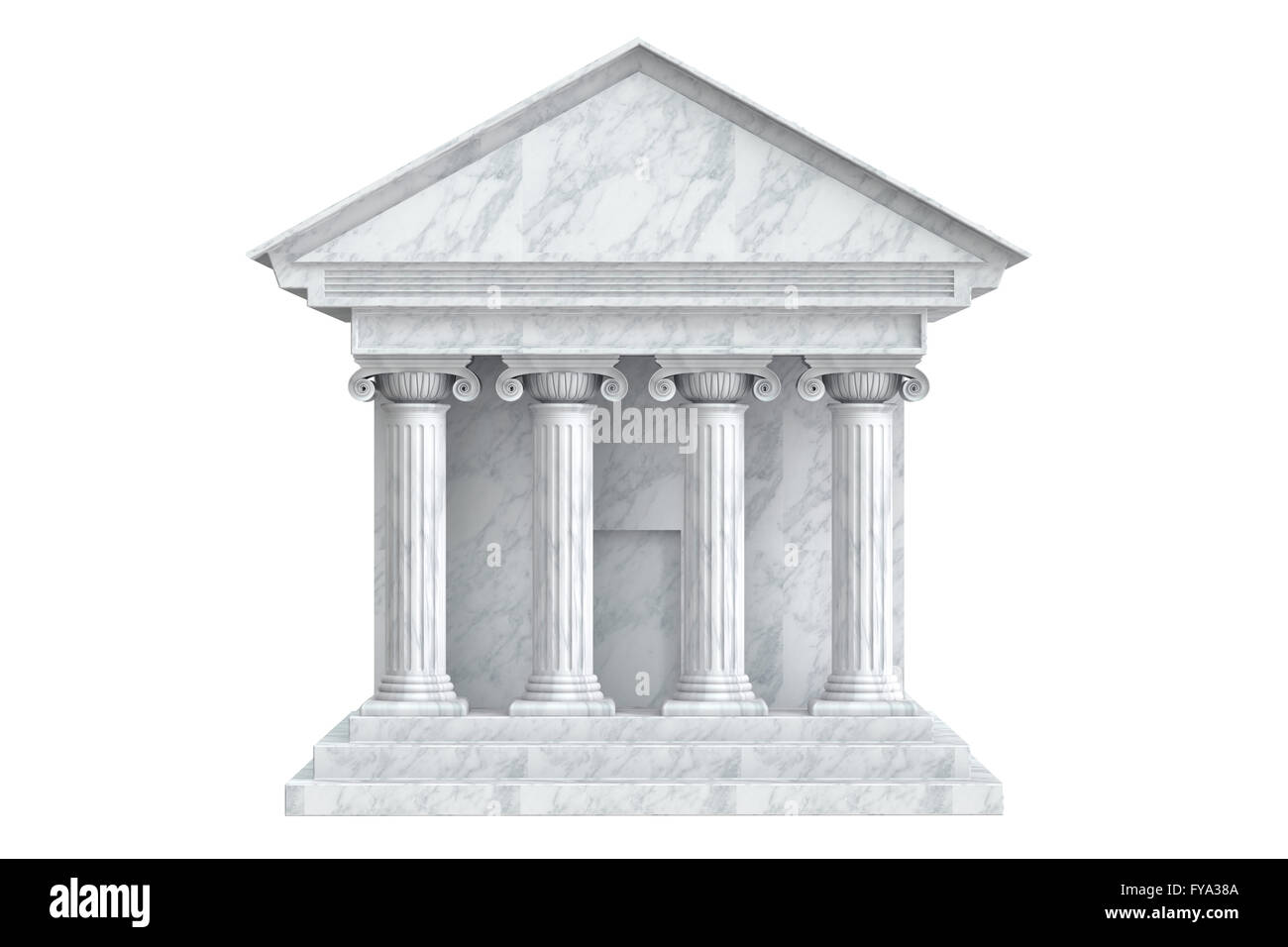 Ancient Colonnade Building, 3D rendering - Stock Image