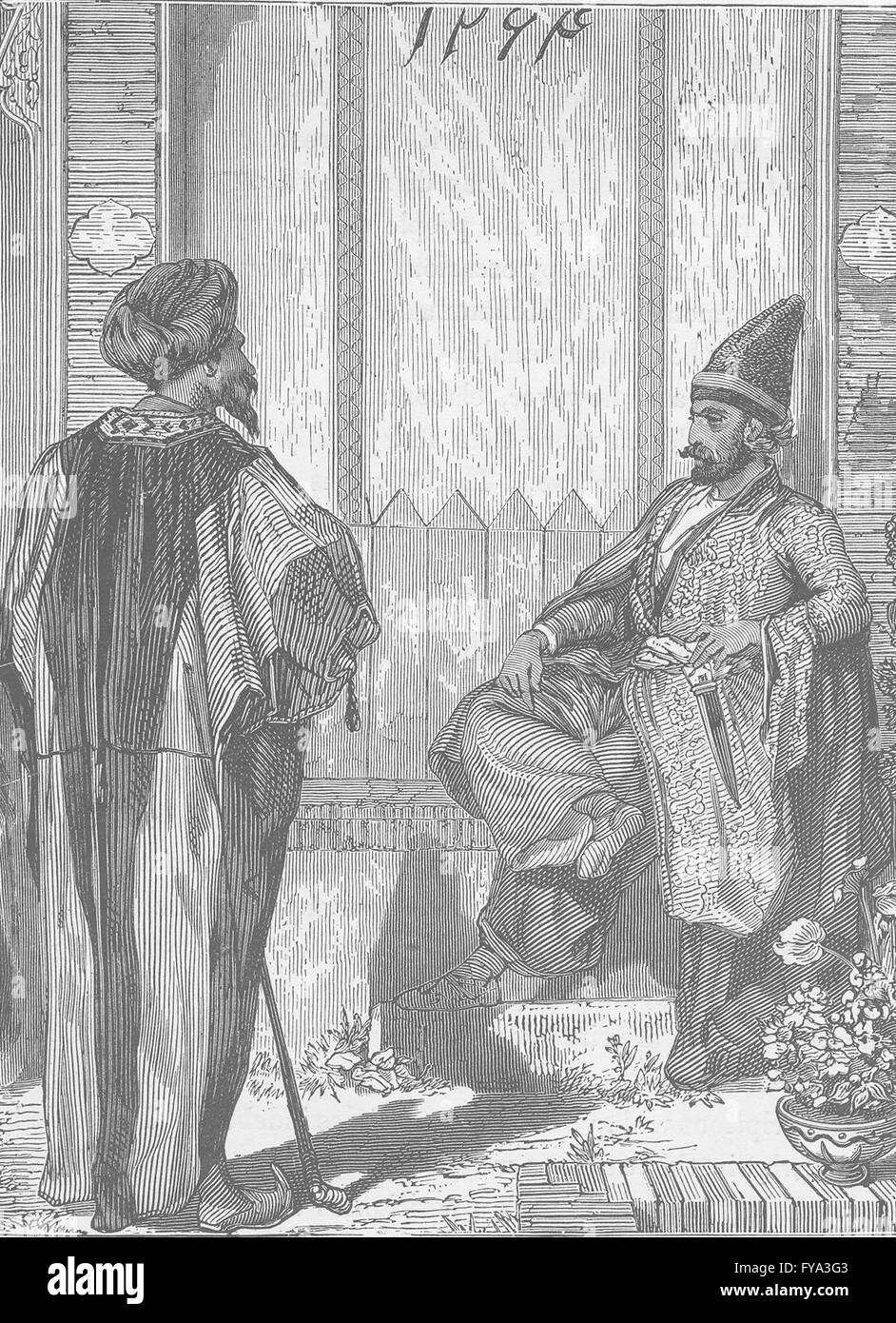IRAN Persian Nobles 1891 old antique vintage print picture