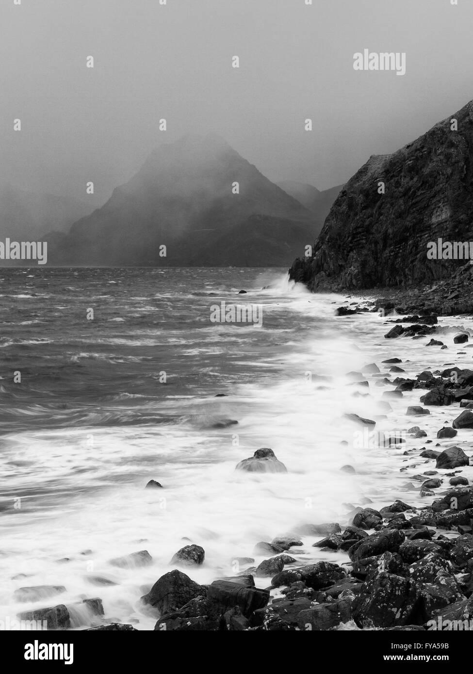 Elgol coastline - Stock Image