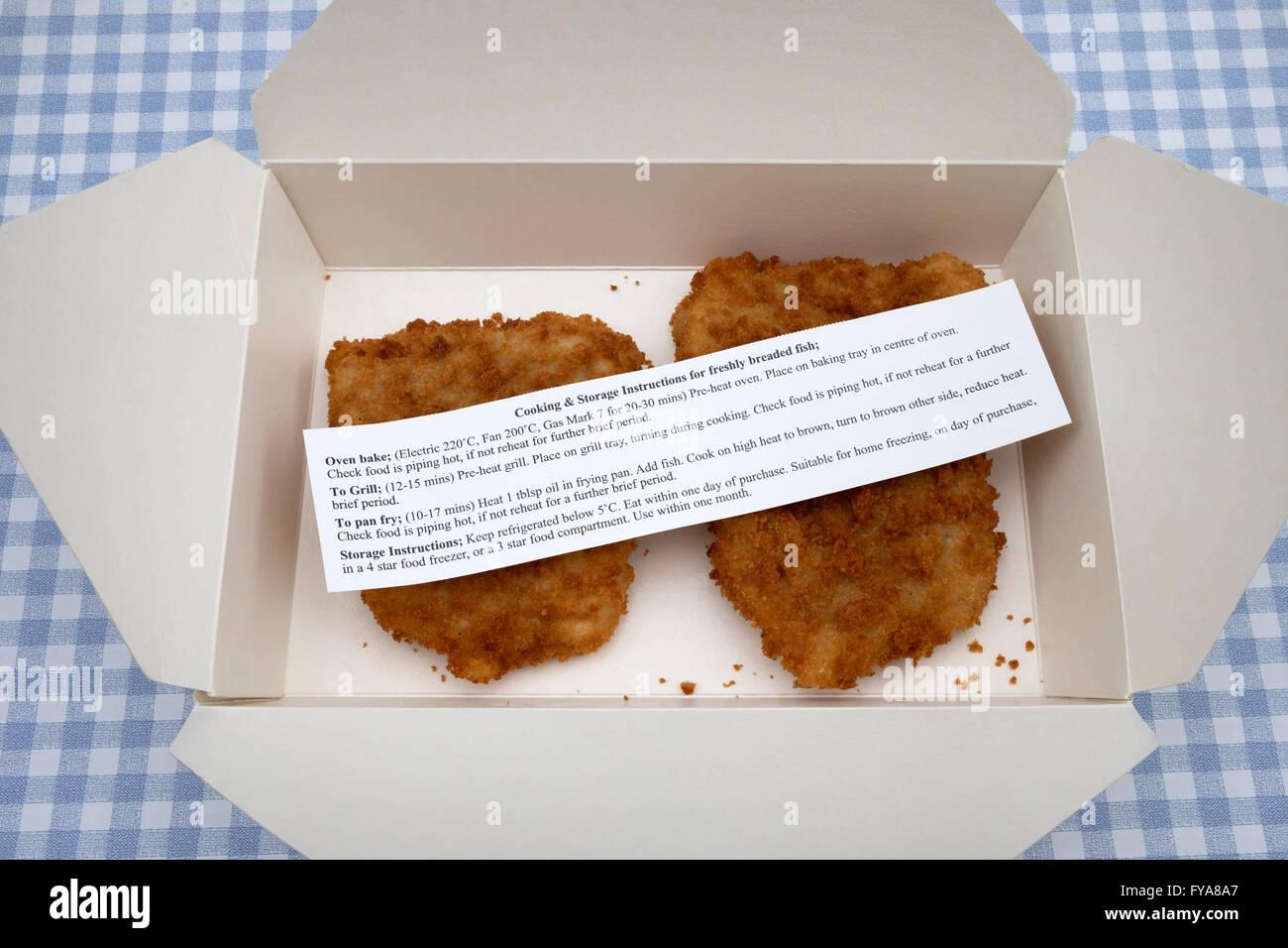 Waitrose fresh Cod breaded fish - Stock Image