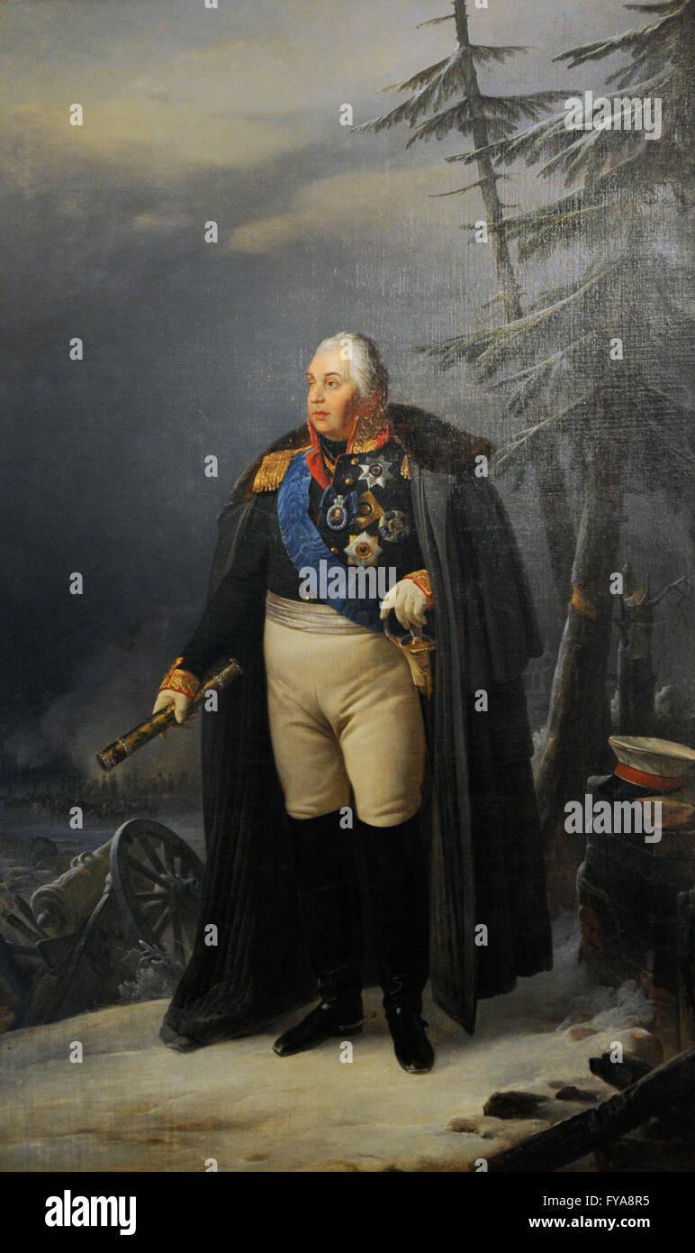 Mikhail Kutuzov (Prince Mikhail Ilarionovich Golenishchev-Kutuzov) (1745-1813). Russian military. Portrait by Pyotr - Stock Image