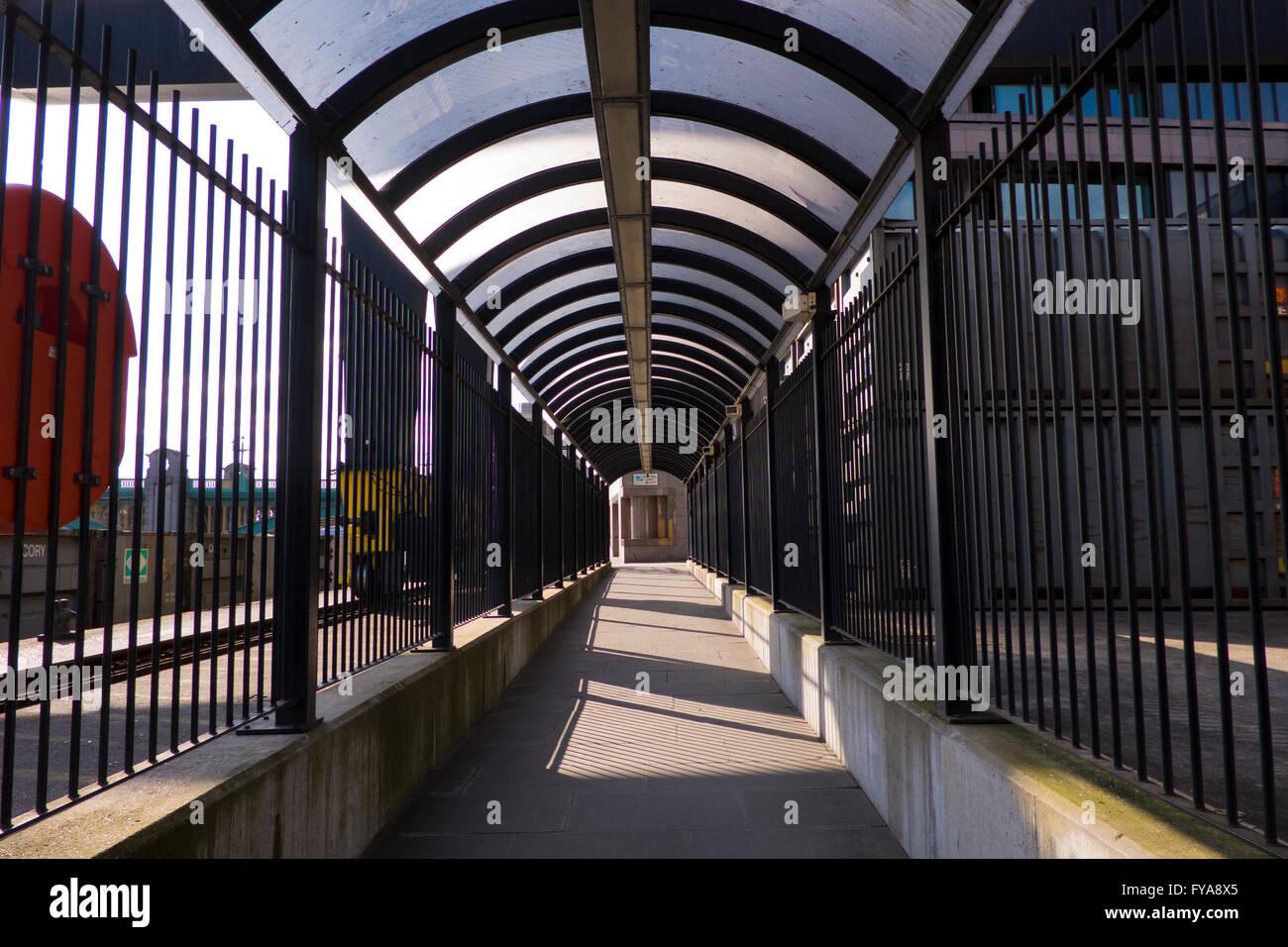 Upper Thames Street, Bell Wharf lane in London - Stock Image