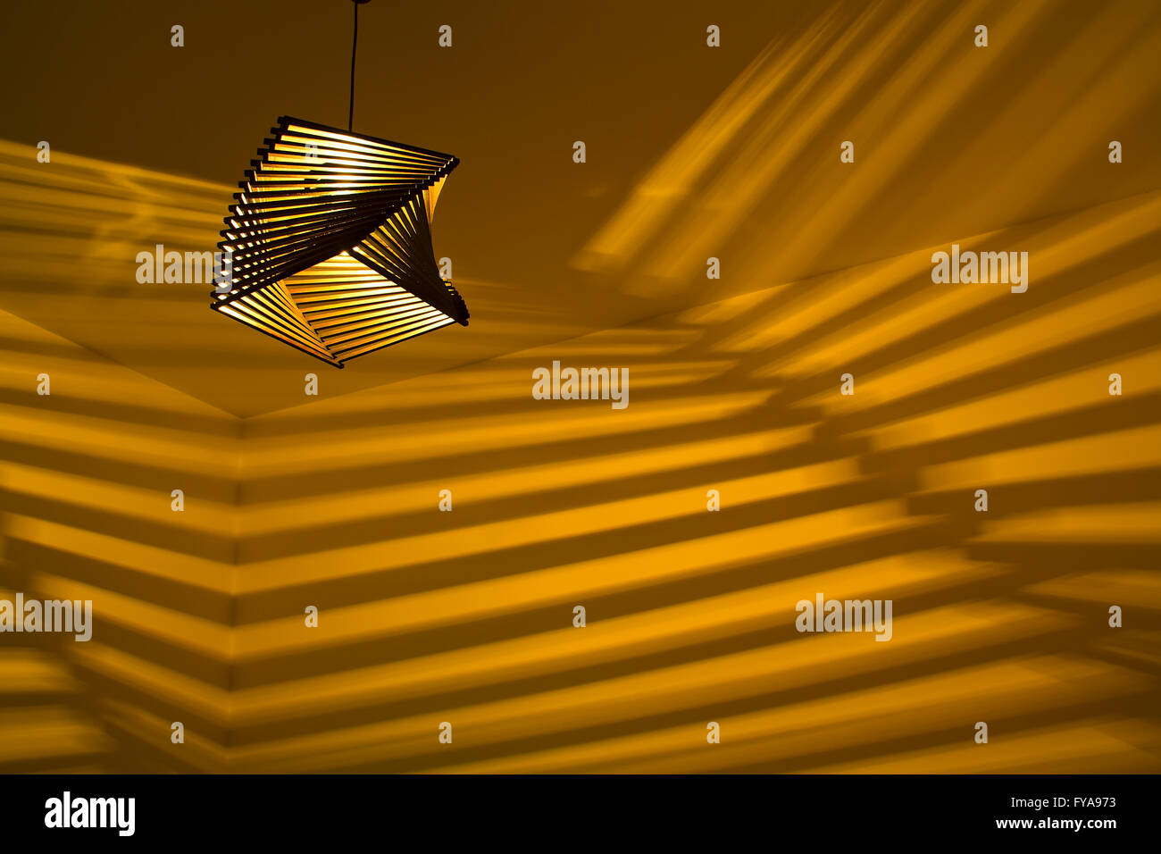 beautiful lamp in the room - Stock Image