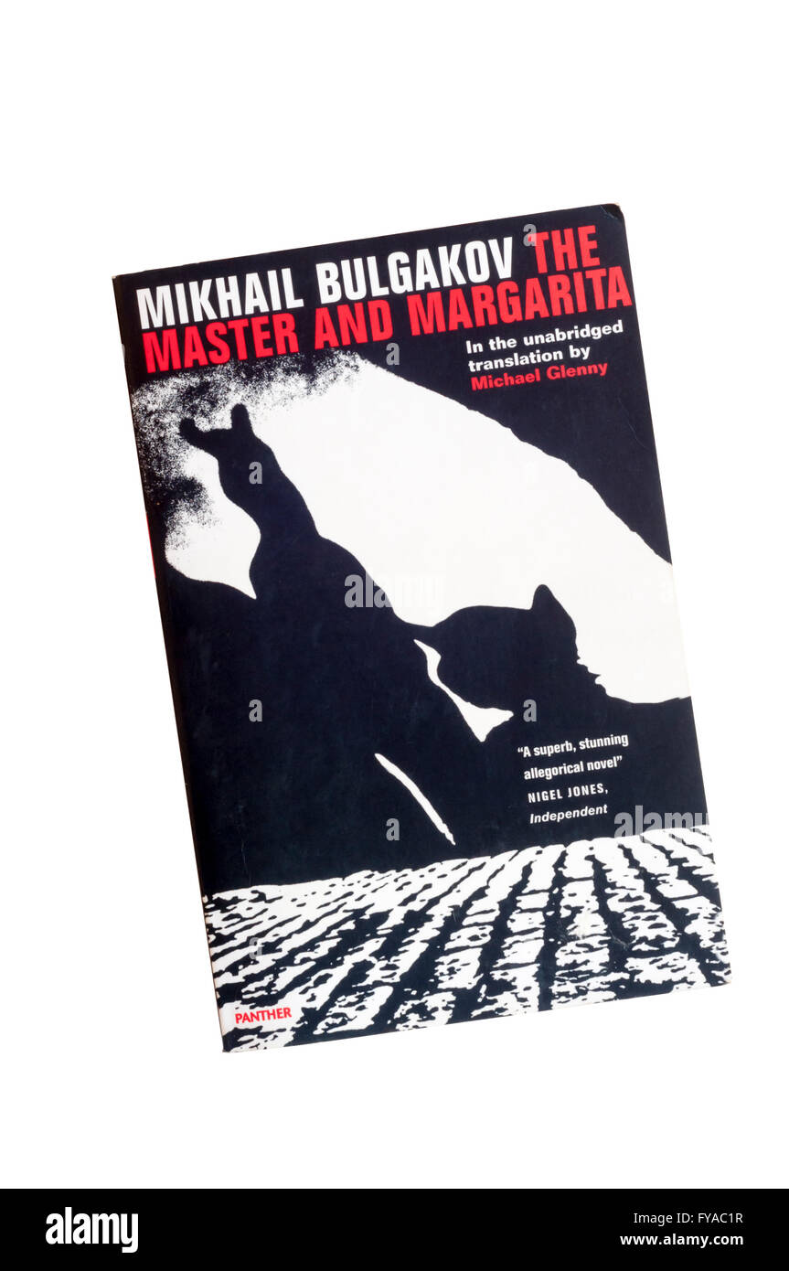 A paperback copy of The Master and Margarita by Mikhail Bulgakov. - Stock Image