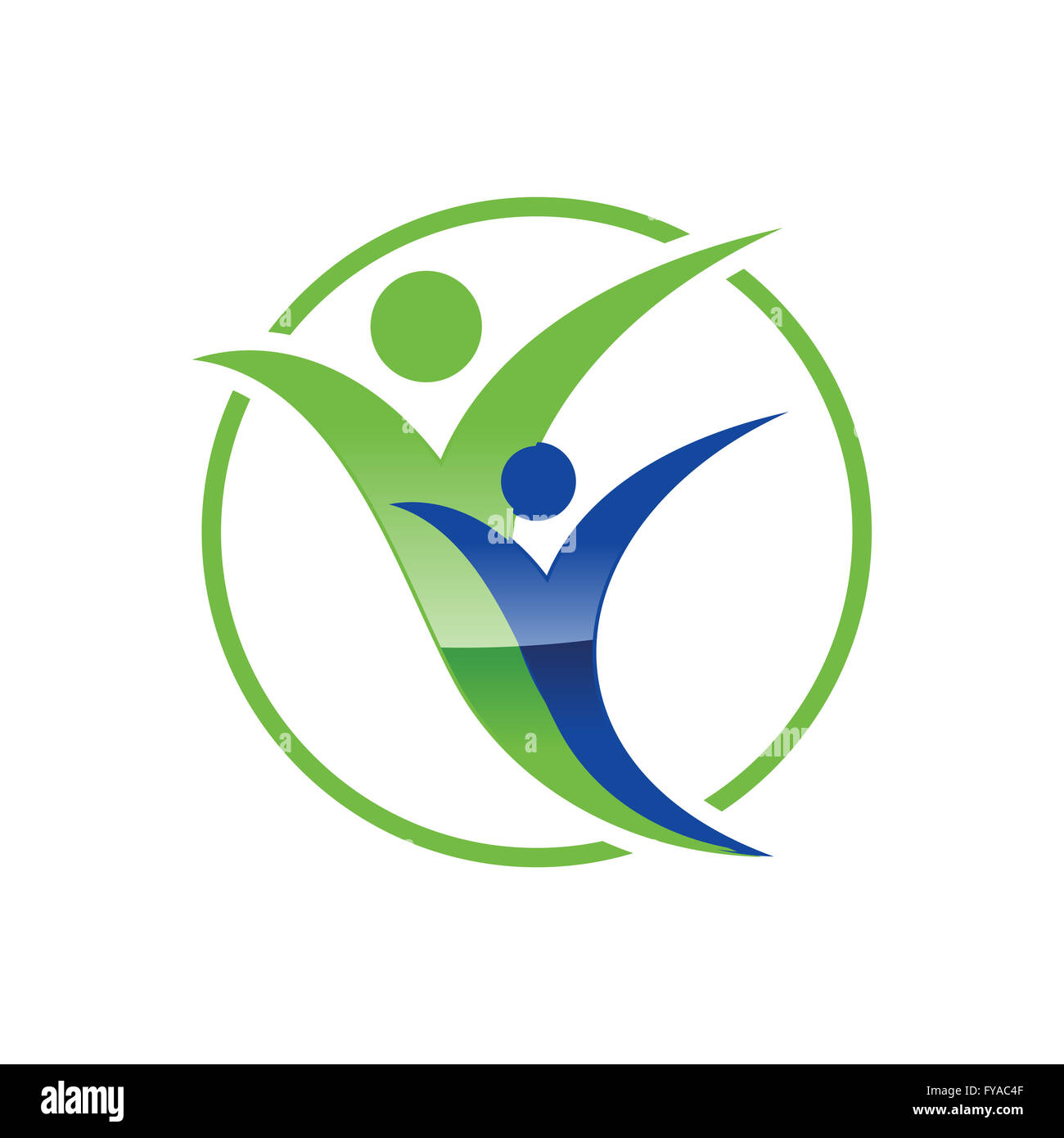 Healthy Living Symbol - Stock Image