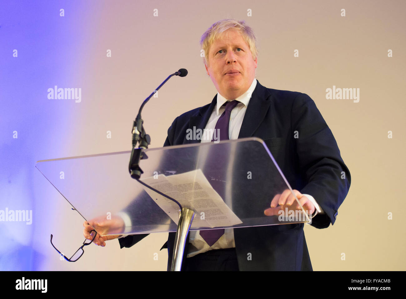 Boris Johnson Conservative MP and former Mayor of London. Boris Johnson campaigned for Britain to leave the EU in - Stock Image