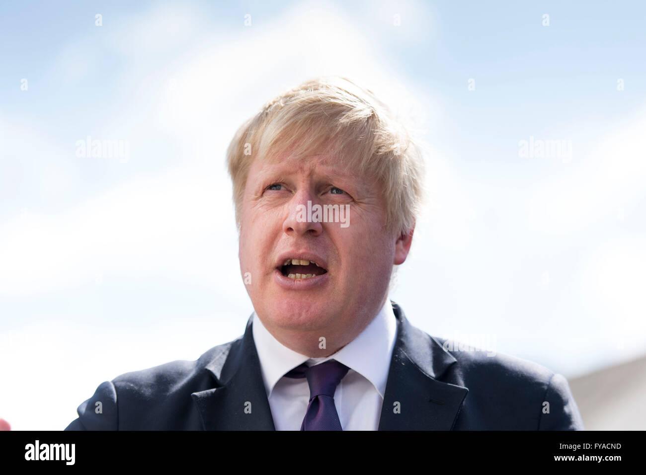 Boris Johnson Mayor of London and MP for Uxbridge and South Ruislip - Stock Image