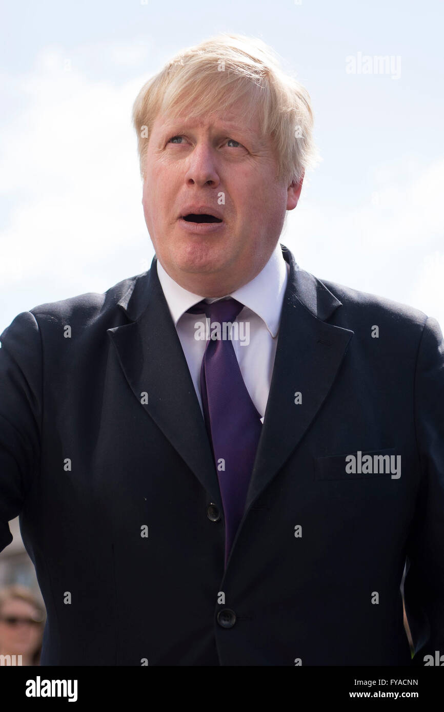 Boris Johnson Conservative MP and former mayor of London. - Stock Image