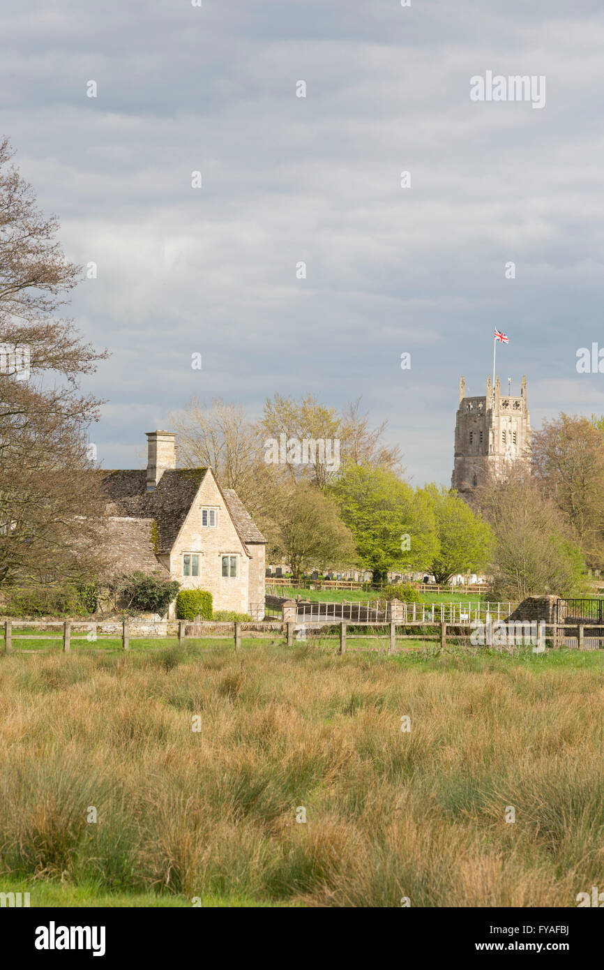 Fairford Mill in the small Cotswold town of Fairford, Gloucestershire, England, UK - Stock Image
