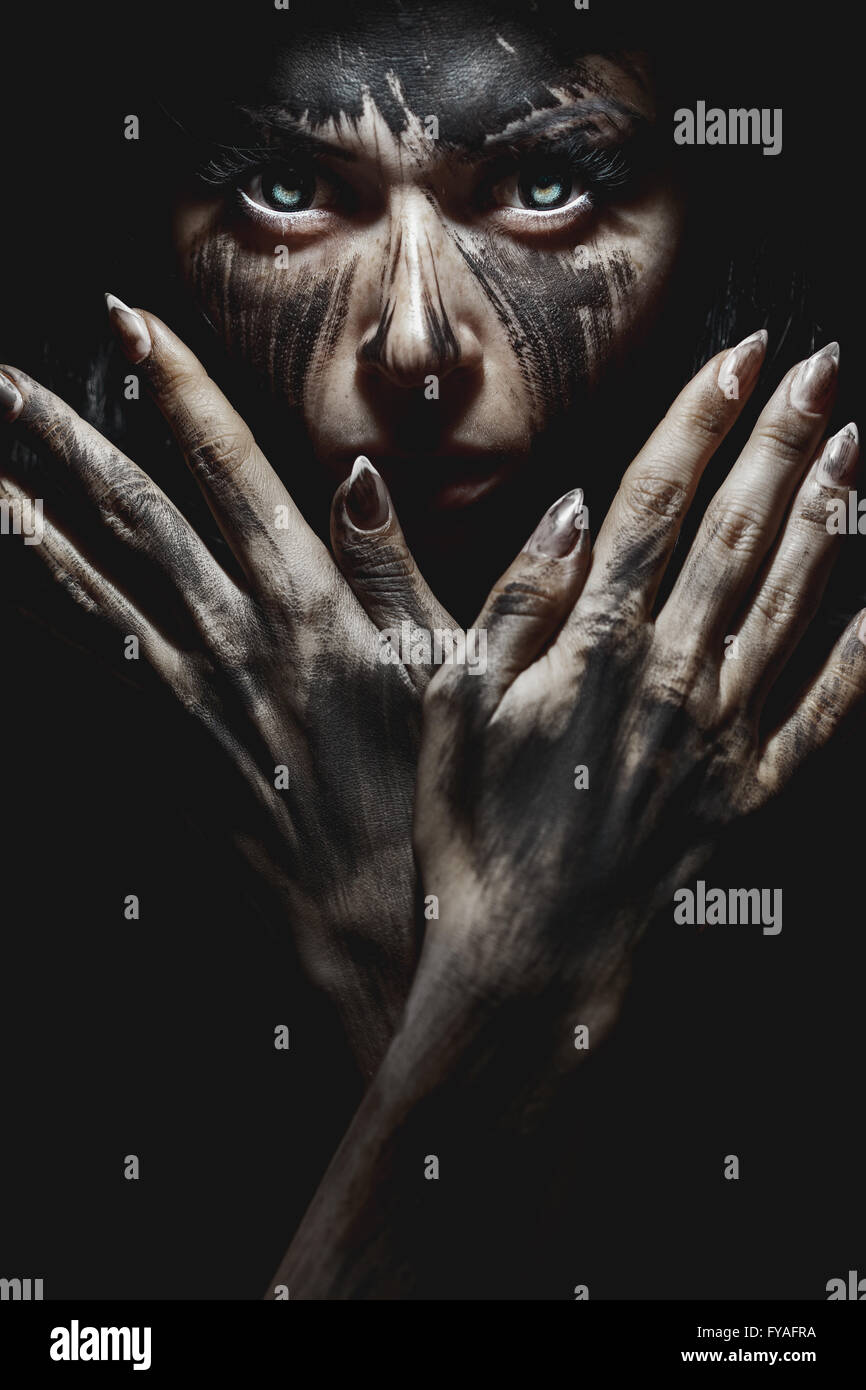 Demonic Look From Hell - Stock Image